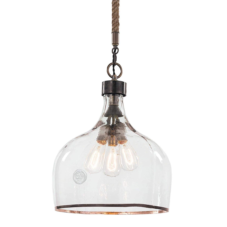 Most Up To Date Amazon: Regina Andrew Demi John Large 60 Watt Max Ebony With Regard To Demi 1 Light Globe Pendants (View 7 of 25)