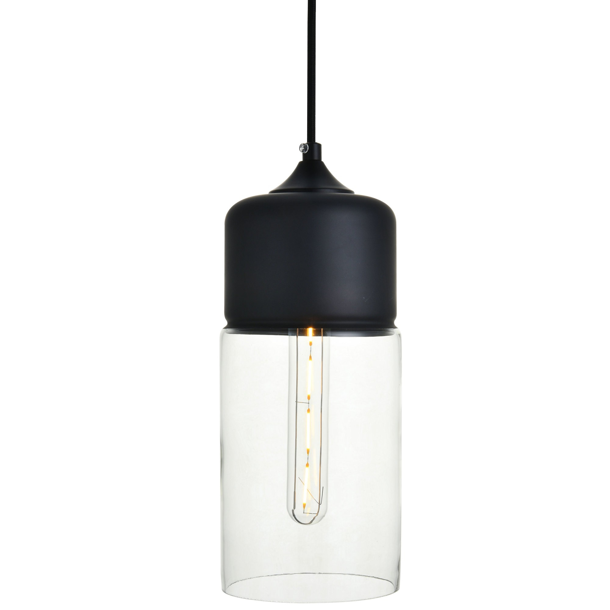 "Most Up To Date Angelina 1 Light Single Cylinder Pendants With Regard To Elegant Lighting Ld2240 Ashwell Single Light 5"" Wide Mini (View 10 of 25)"