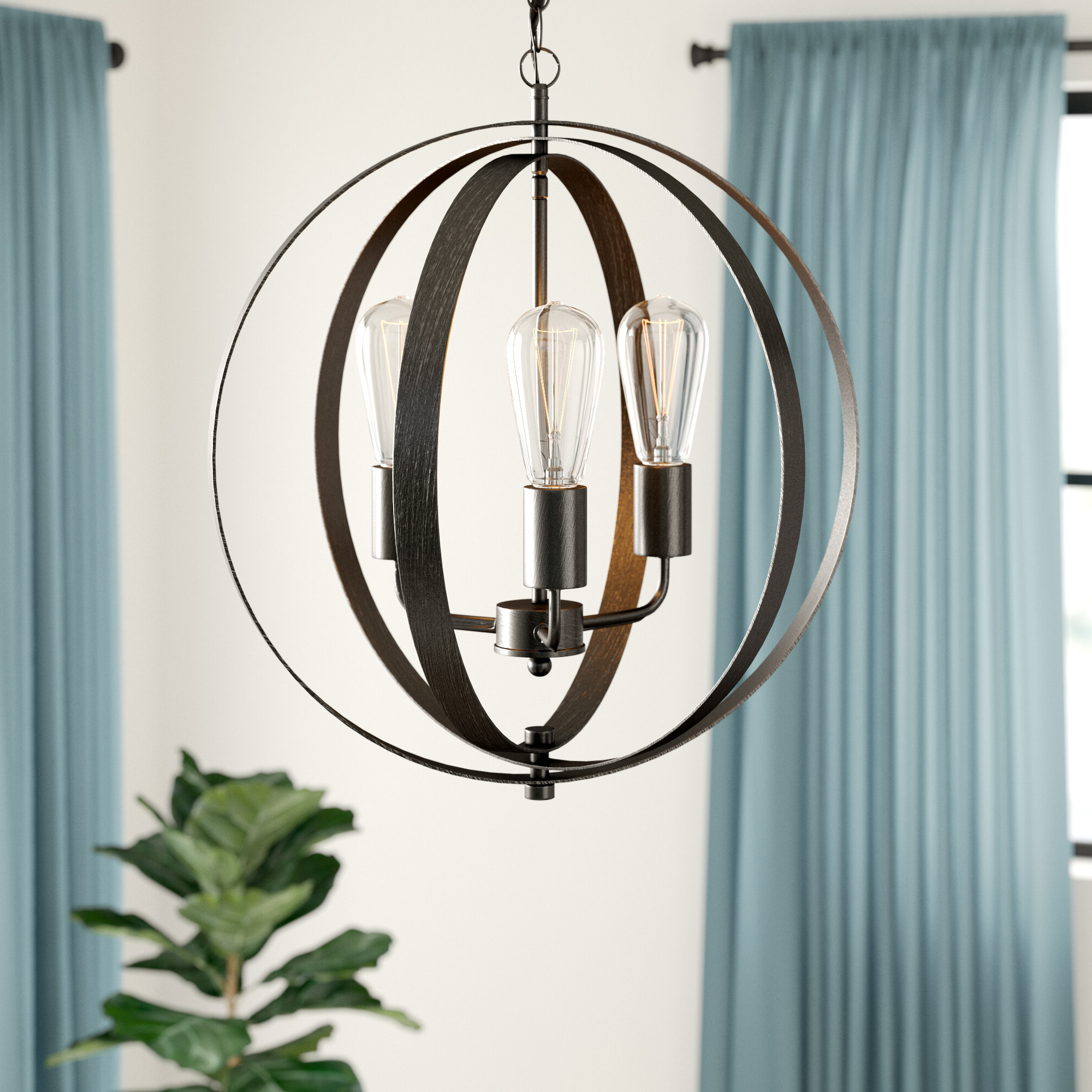Most Up To Date Annuziata 3 Light Unique/statement Chandeliers Inside Belby 3 Light Chandelier (View 8 of 25)
