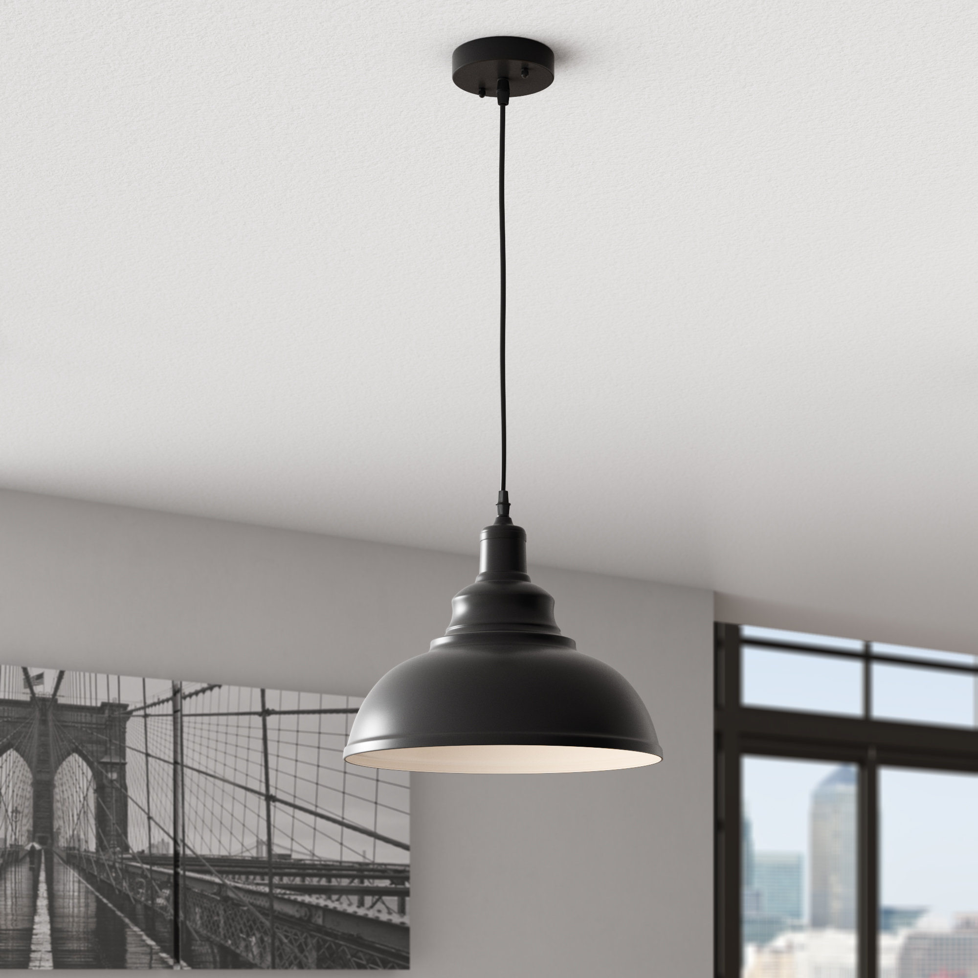 Most Up To Date Arabi 1 Light Inverted Pendant With Regard To Stetson 1 Light Bowl Pendants (View 11 of 25)