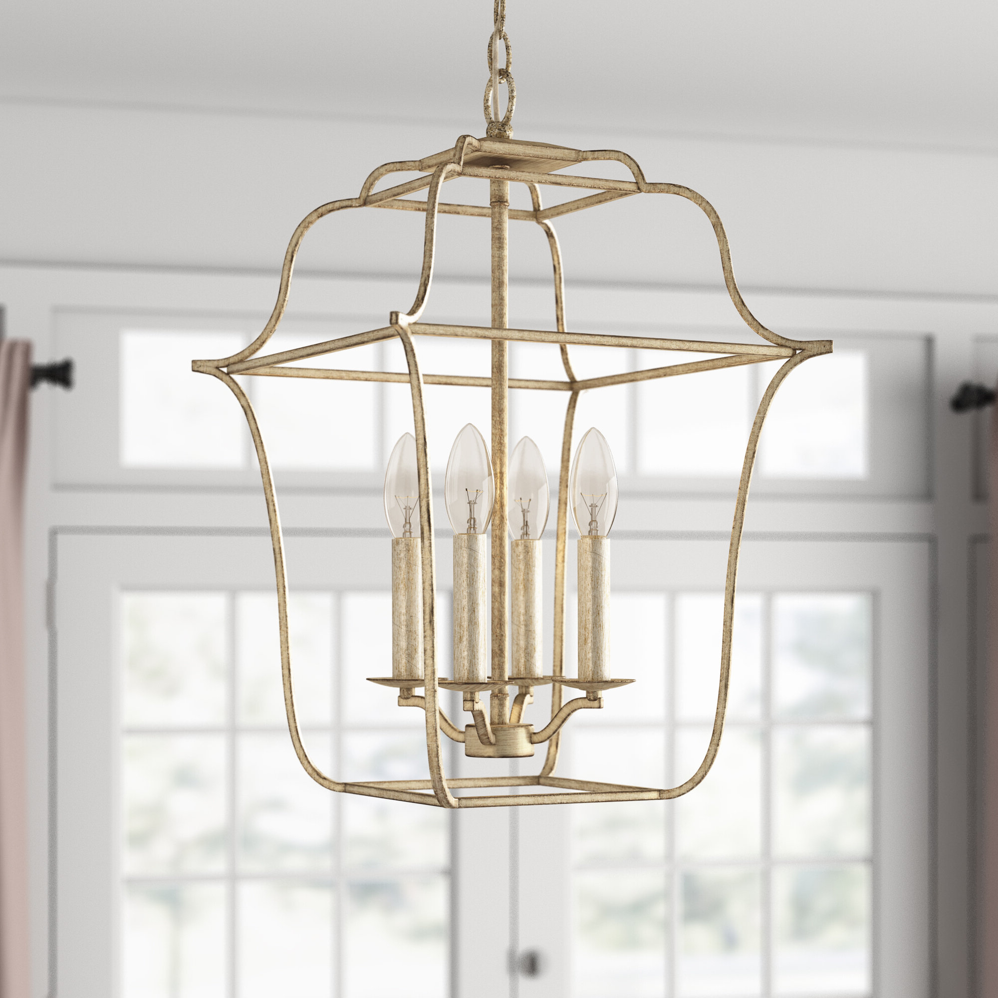 Most Up To Date Chloe 4 Light Lantern Geometric Pendant & Reviews (View 14 of 25)