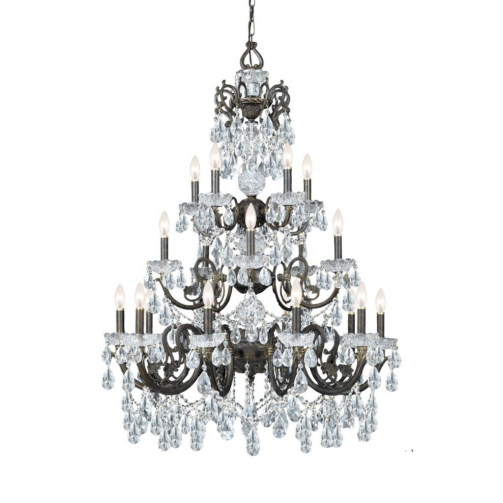 Most Up To Date Clea 3 Light Crystal Chandeliers Within Crystorama Legacy Collection 20 Light English Bronze/crystal Chandelier (View 11 of 25)