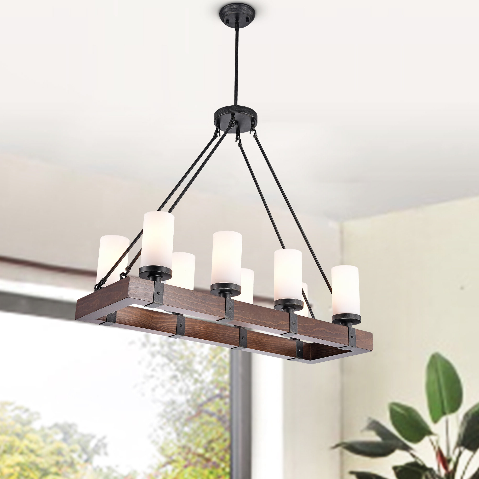 Most Up To Date Ellenton 4 Light Rectangle Chandeliers For Goncalves 8 Light Rectangle Chandelier (View 16 of 25)