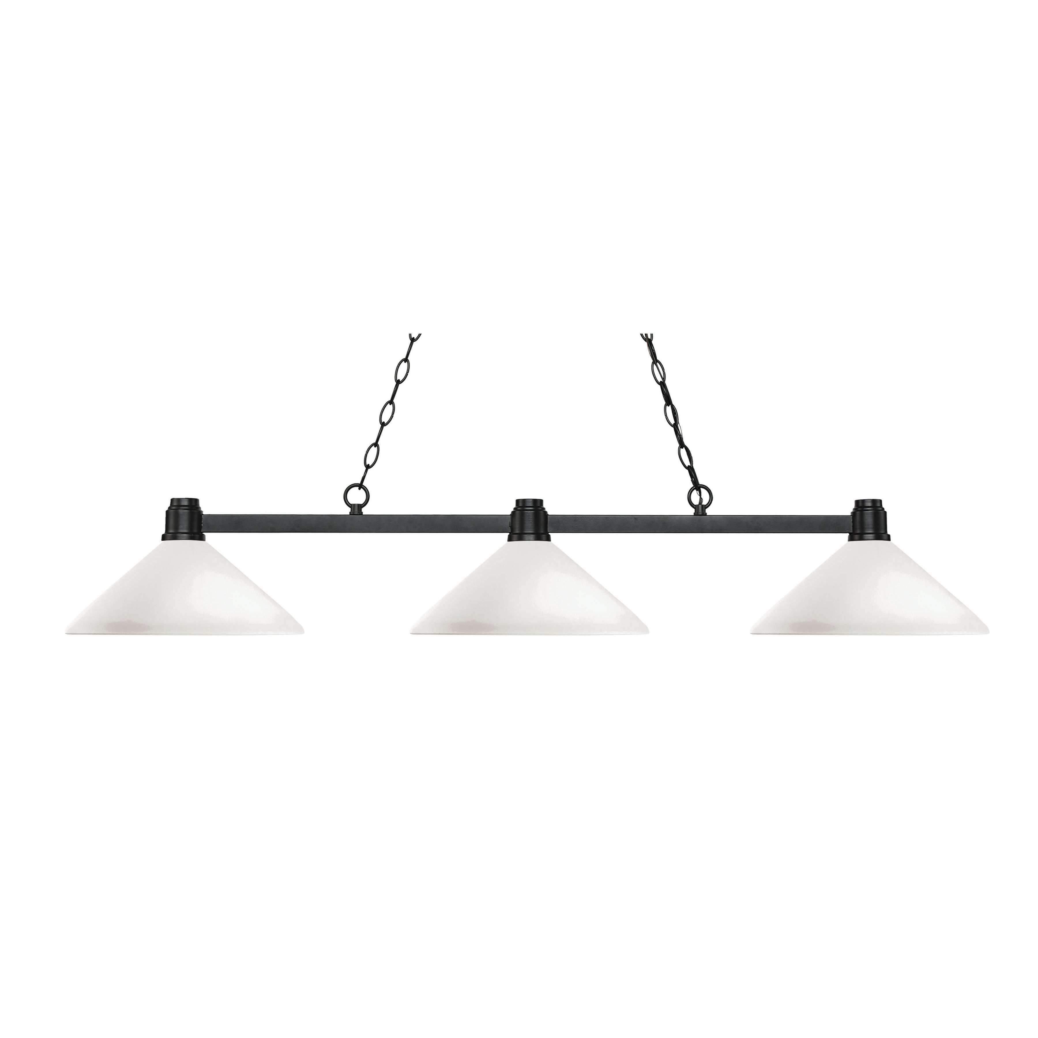 Most Up To Date Euclid 2 Light Kitchen Island Linear Pendants Within Bronze 3 Light Island/billiard Light Style 314Brz Amo (View 24 of 25)