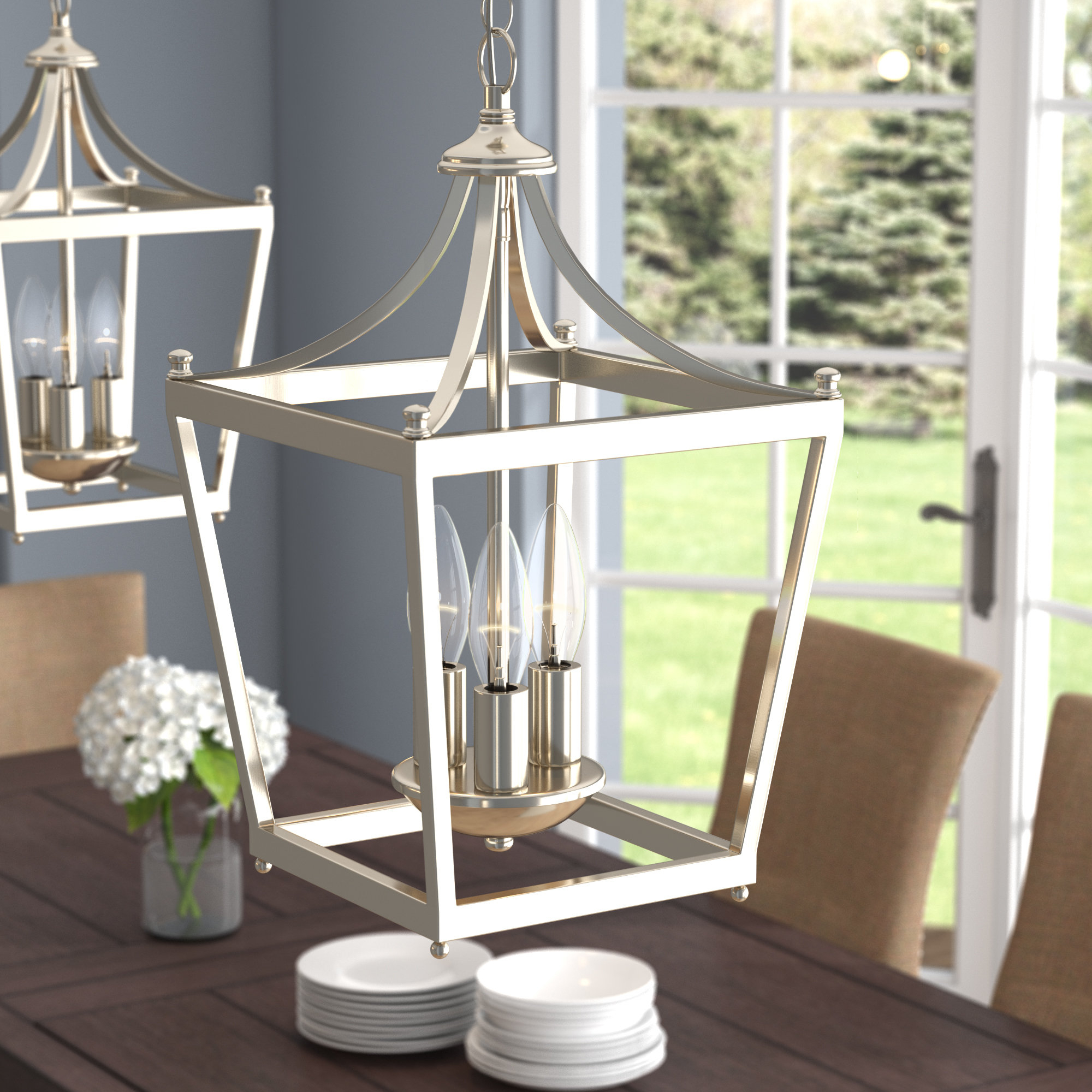 Most Up To Date Gabriella 3 Light Lantern Chandeliers Within Birch Lane™ Heritage Gabriella 3 Light Lantern Chandelier (View 21 of 25)