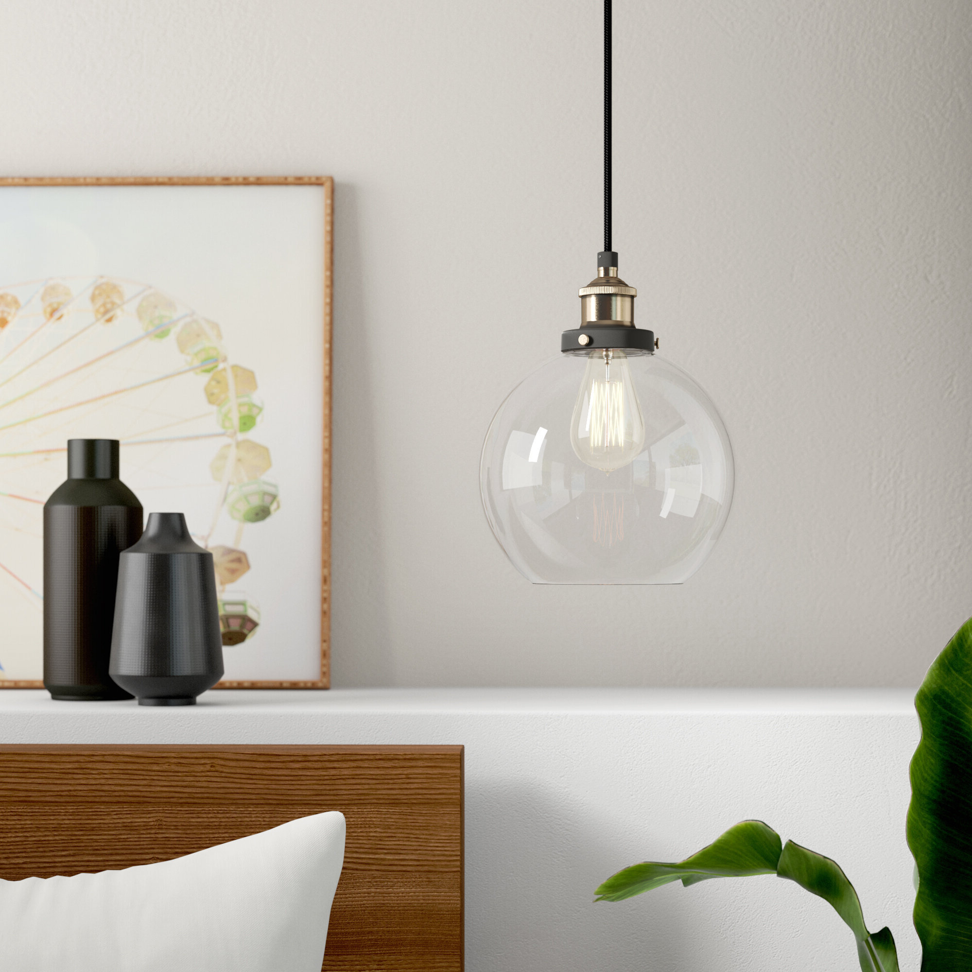 Most Up To Date Gehry 1 Light Single Globe Pendants Intended For Bundy 1 Light Single Globe Pendant (View 6 of 25)