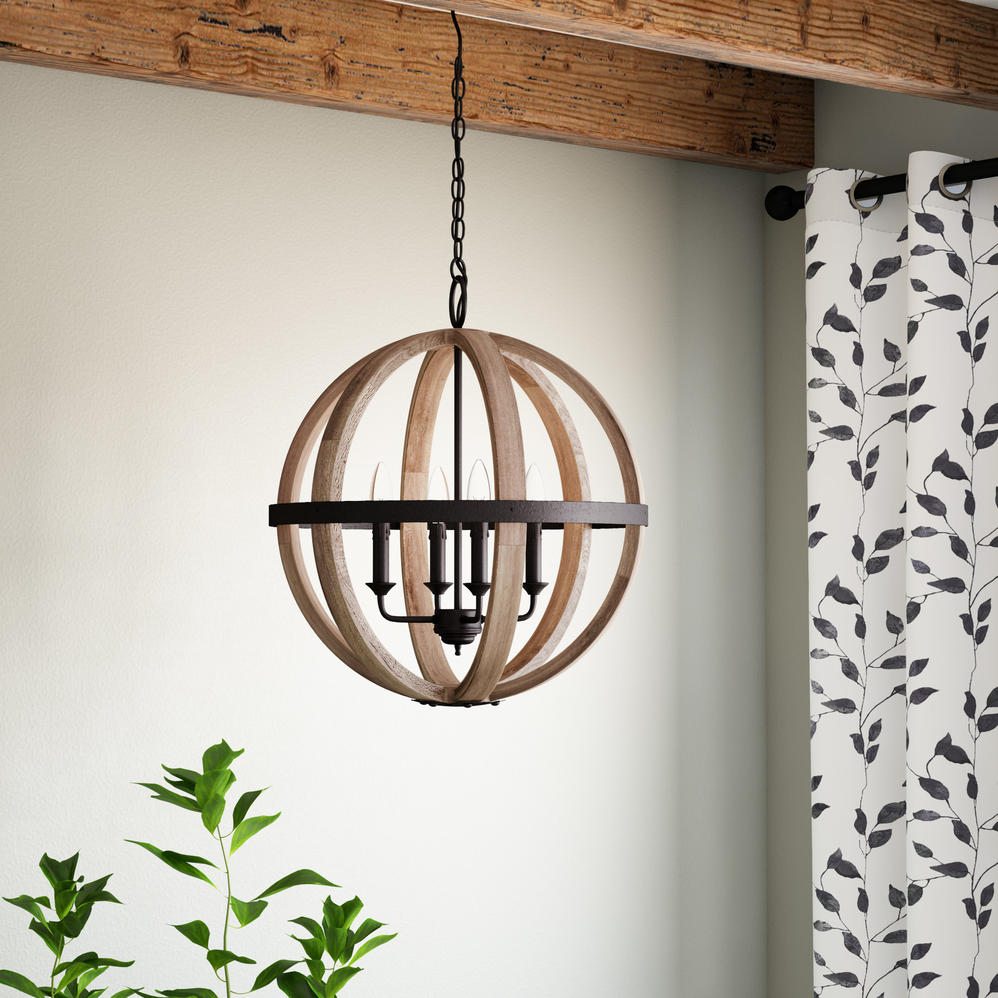 Most Up To Date Gracie Oaks Caley 4 Light Globe Chandelier & Reviews (View 20 of 25)