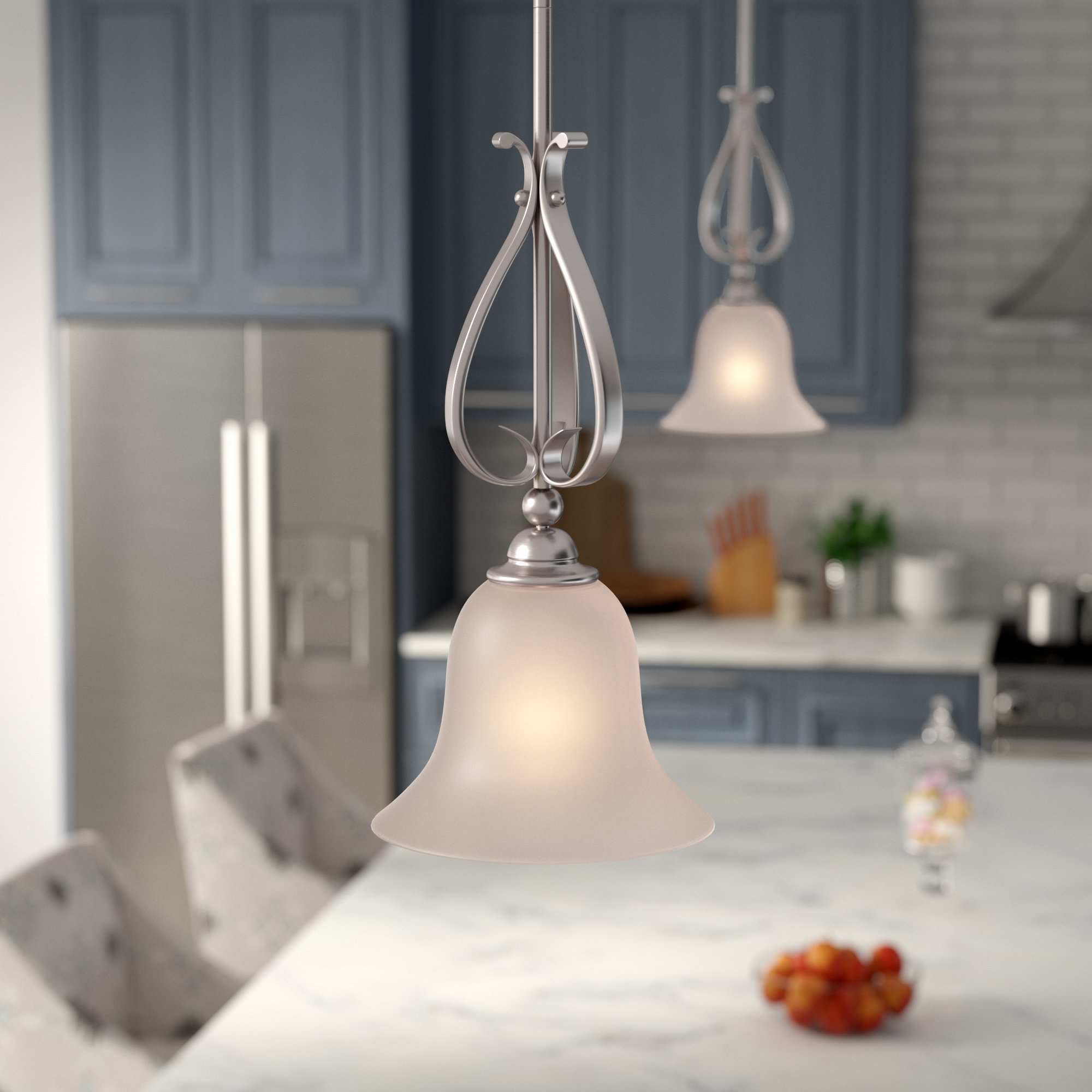 Most Up To Date Grullon Scroll 1 Light Single Bell Pendants In Van Horne 1 Light Cone Pendant (View 21 of 25)