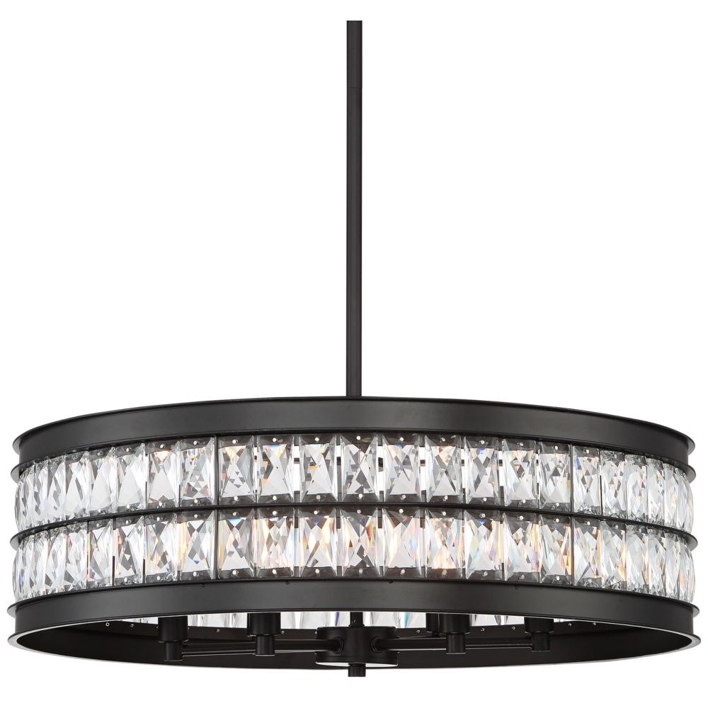 Most Up To Date Jaylen 23 1 2W Oil Rubbed Bronze And Crystal Pendant Light With Albano 4 Light Crystal Chandeliers (View 24 of 25)