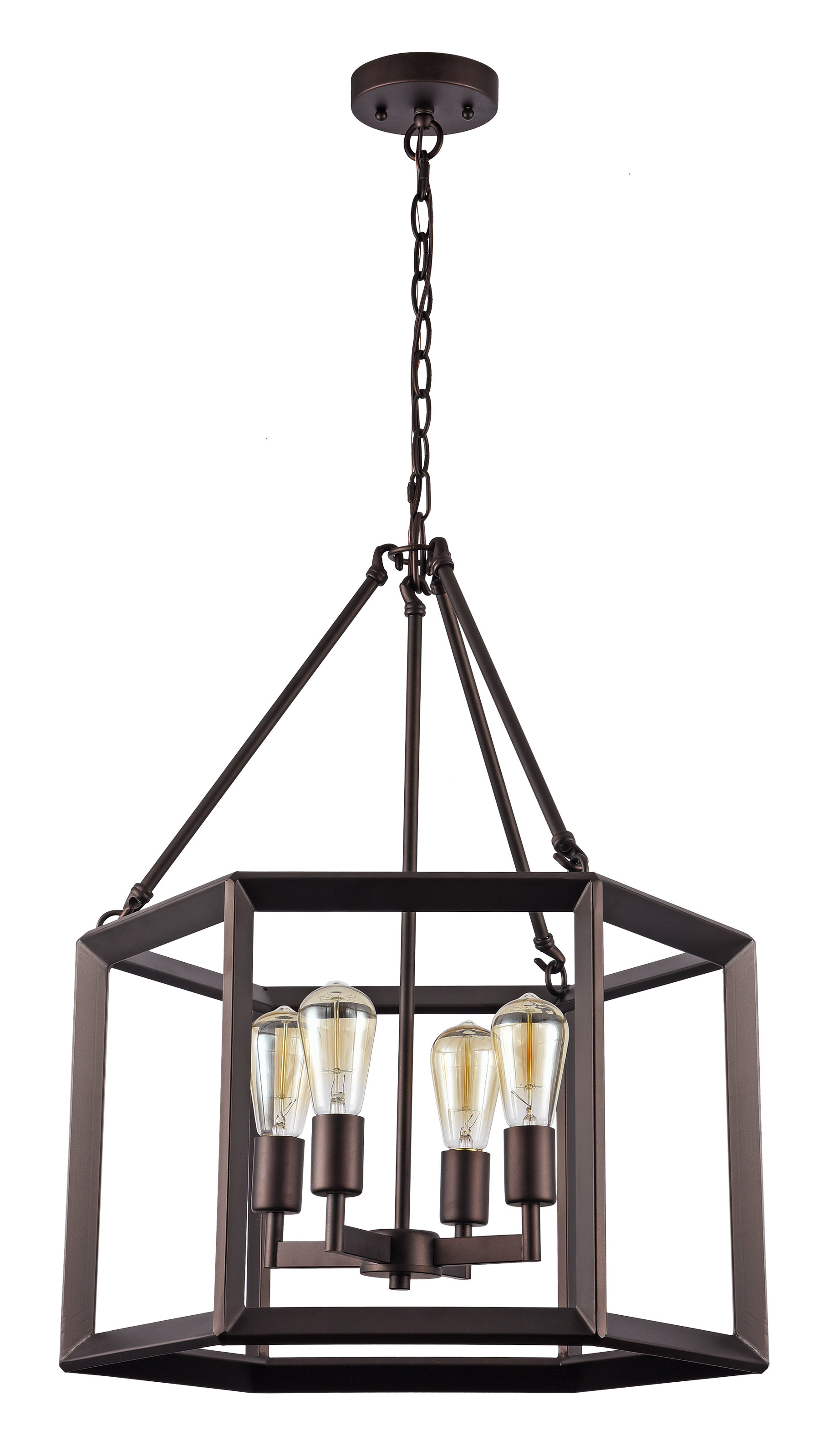 Most Up To Date Laurel Foundry Modern Farmhouse Bouvet 4 Light Foyer Pendant Regarding Leiters 3 Light Lantern Geometric Pendants (View 19 of 25)