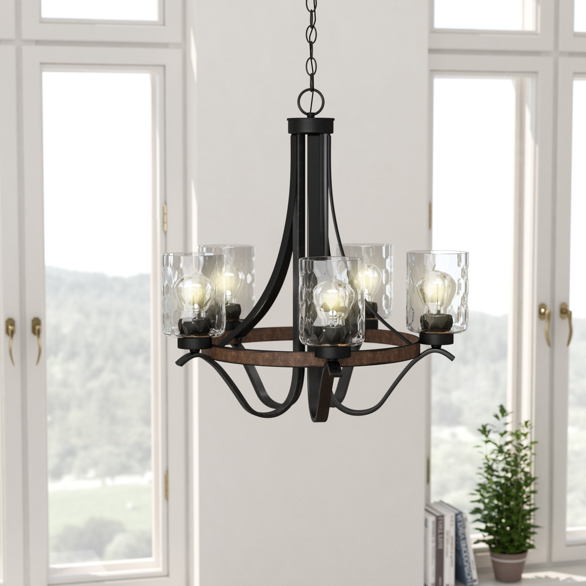 Most Up To Date Laurel Foundry Modern Farmhouse Sabo Indoor 5 Light Shaded Chandelier Throughout Suki 5 Light Shaded Chandeliers (View 10 of 25)