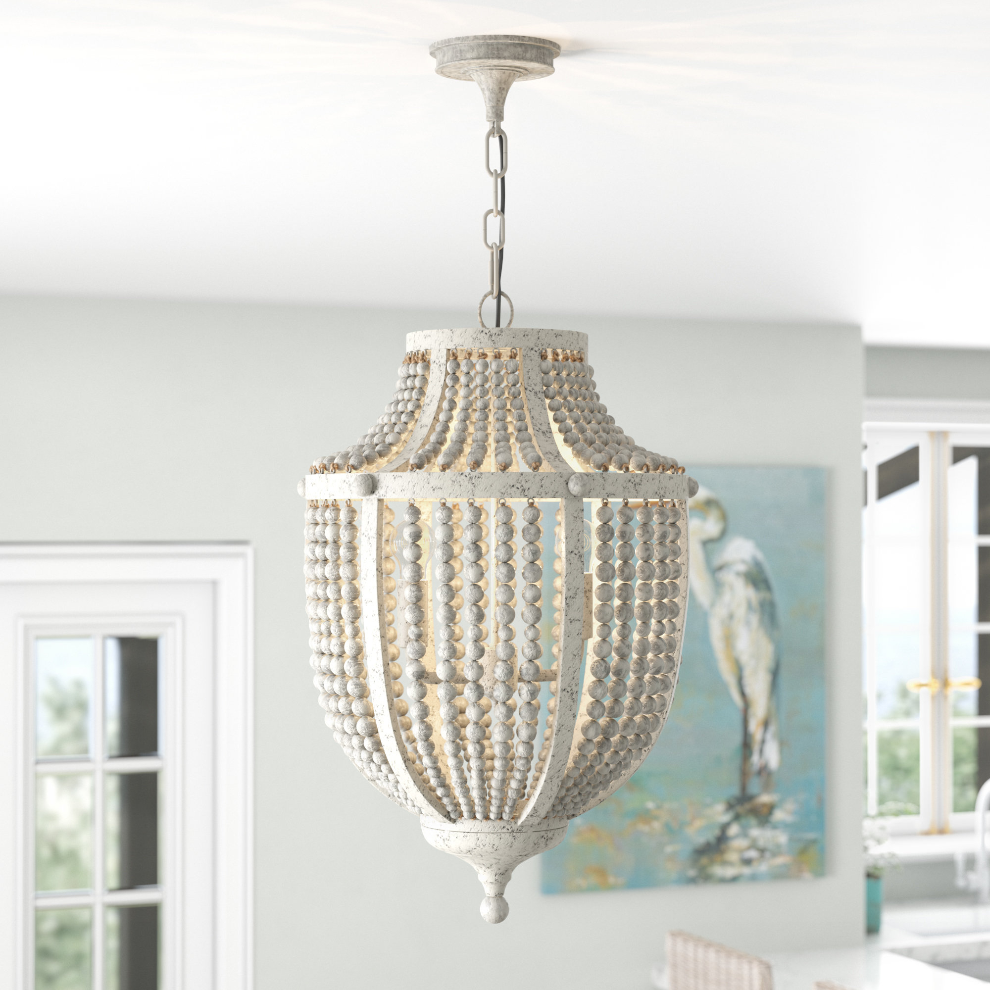 Most Up To Date Lyon 3 Light Unique / Statement Chandeliers Inside Beachcrest Home Nailwell 2 Light Empire Chandelier & Reviews (View 11 of 25)
