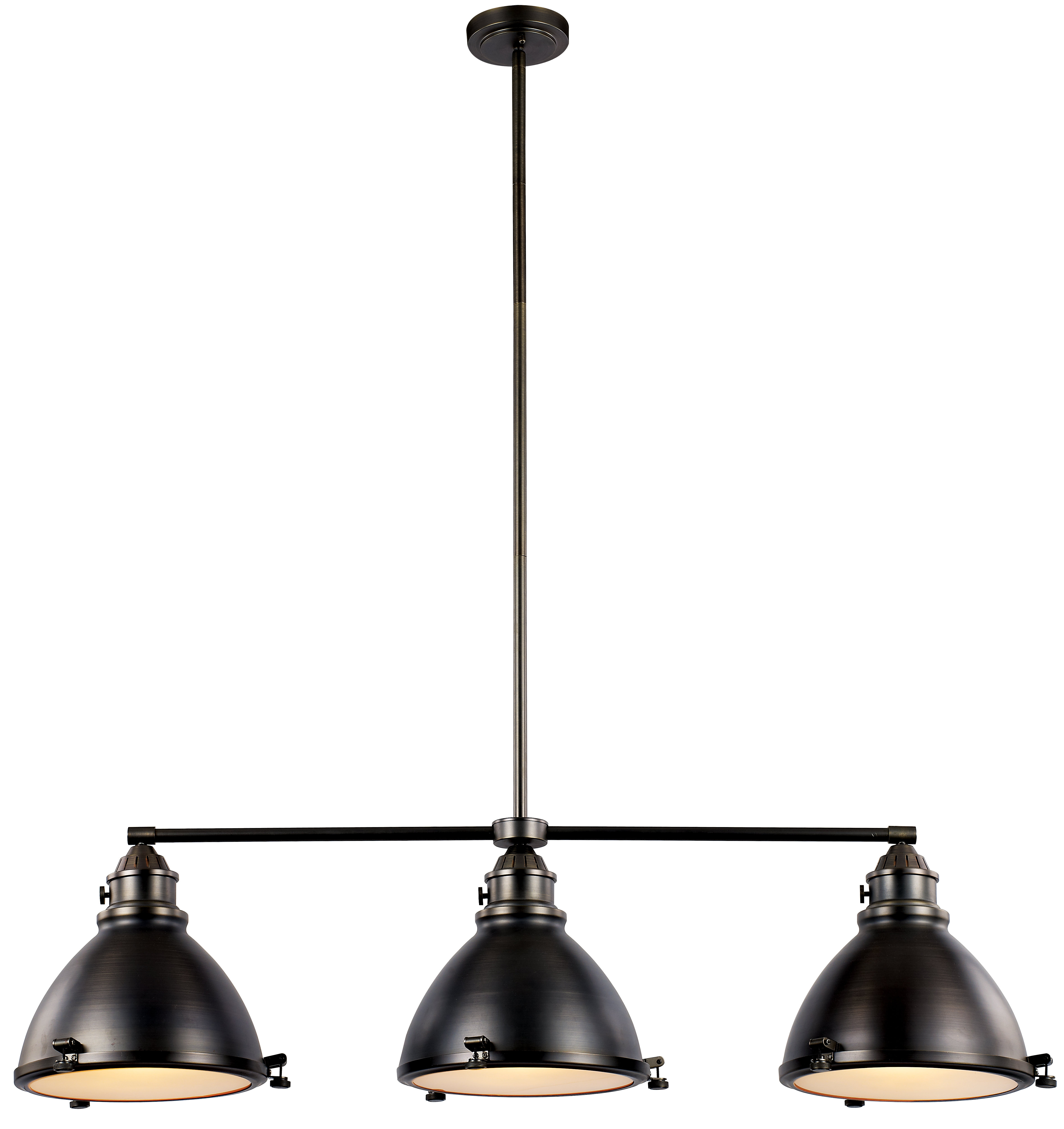Most Up To Date Martinique 3 Light Kitchen Island Dome Pendants Within Dewey 3 Light Kitchen Island Pendant (View 18 of 25)