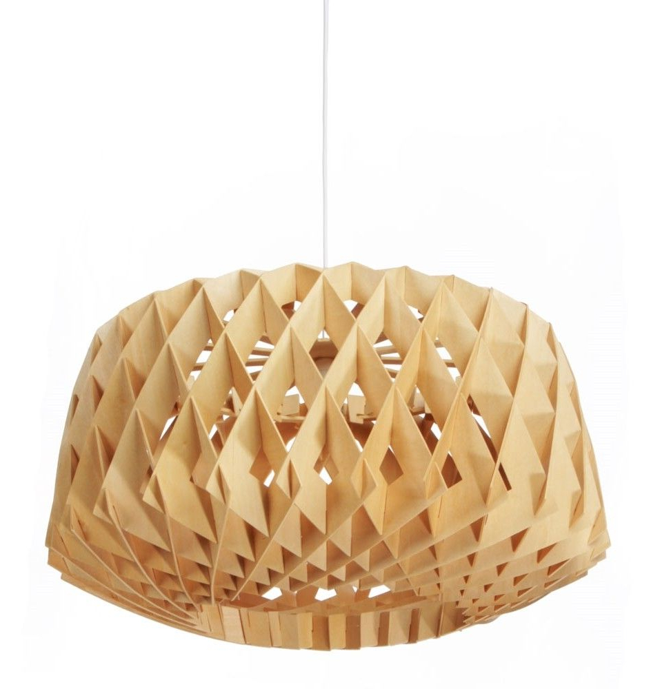 Most Up To Date Melora 1 Light Single Geometric Pendants Regarding Tamil Wooden Pendant Lamp In Natural / Modernist Lighting (View 17 of 25)