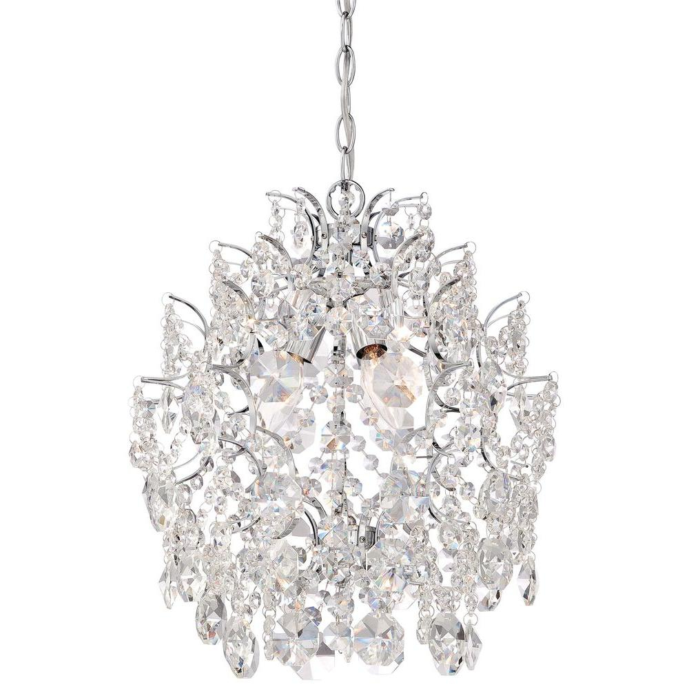 Most Up To Date Minka Lavery 3 Light Chrome Mini Chandelier Pertaining To Clea 3 Light Crystal Chandeliers (View 2 of 25)