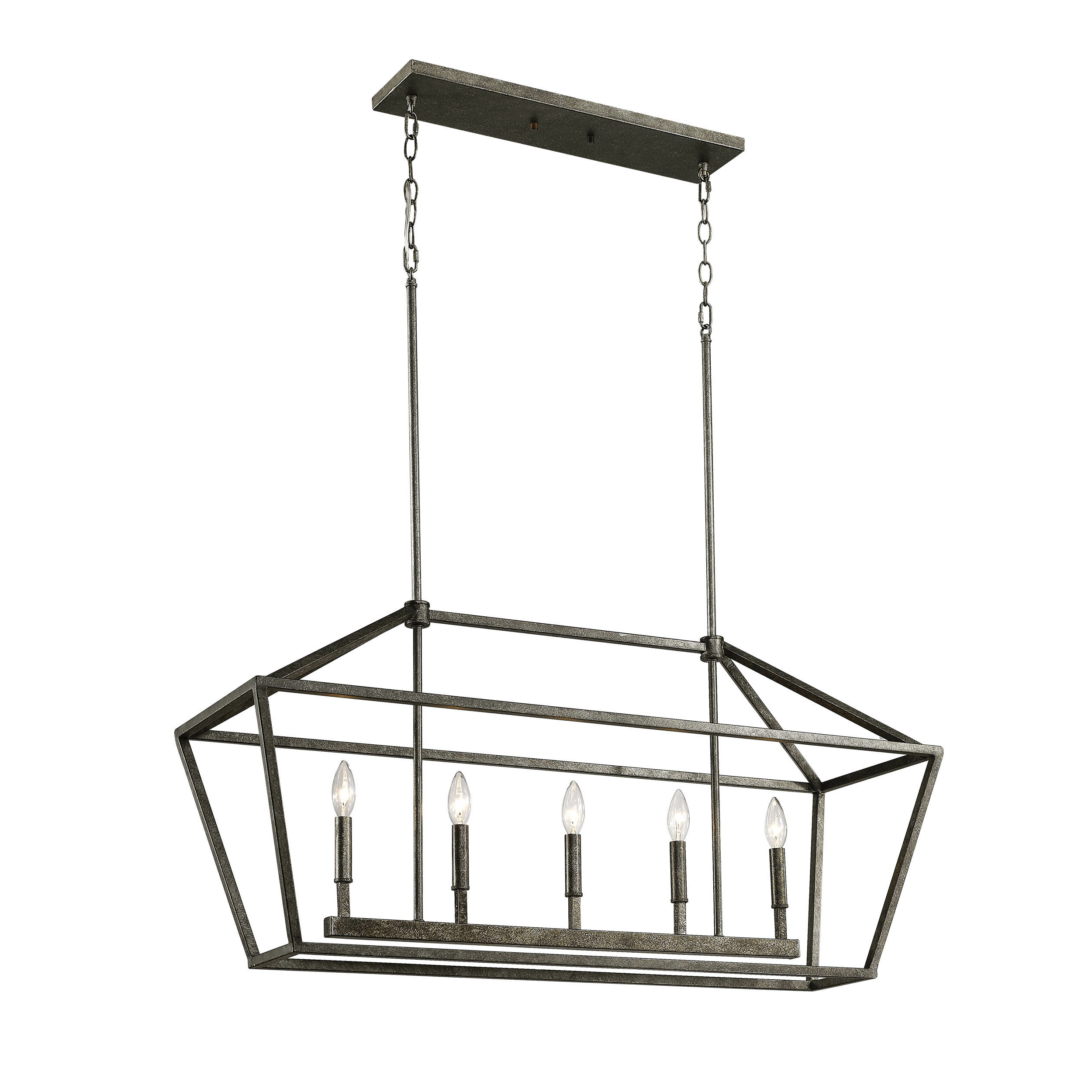 Most Up To Date Odie 8 Light Kitchen Island Square / Rectangle Pendants For Freemont 5 Light Kitchen Island Linear Pendant (View 23 of 25)