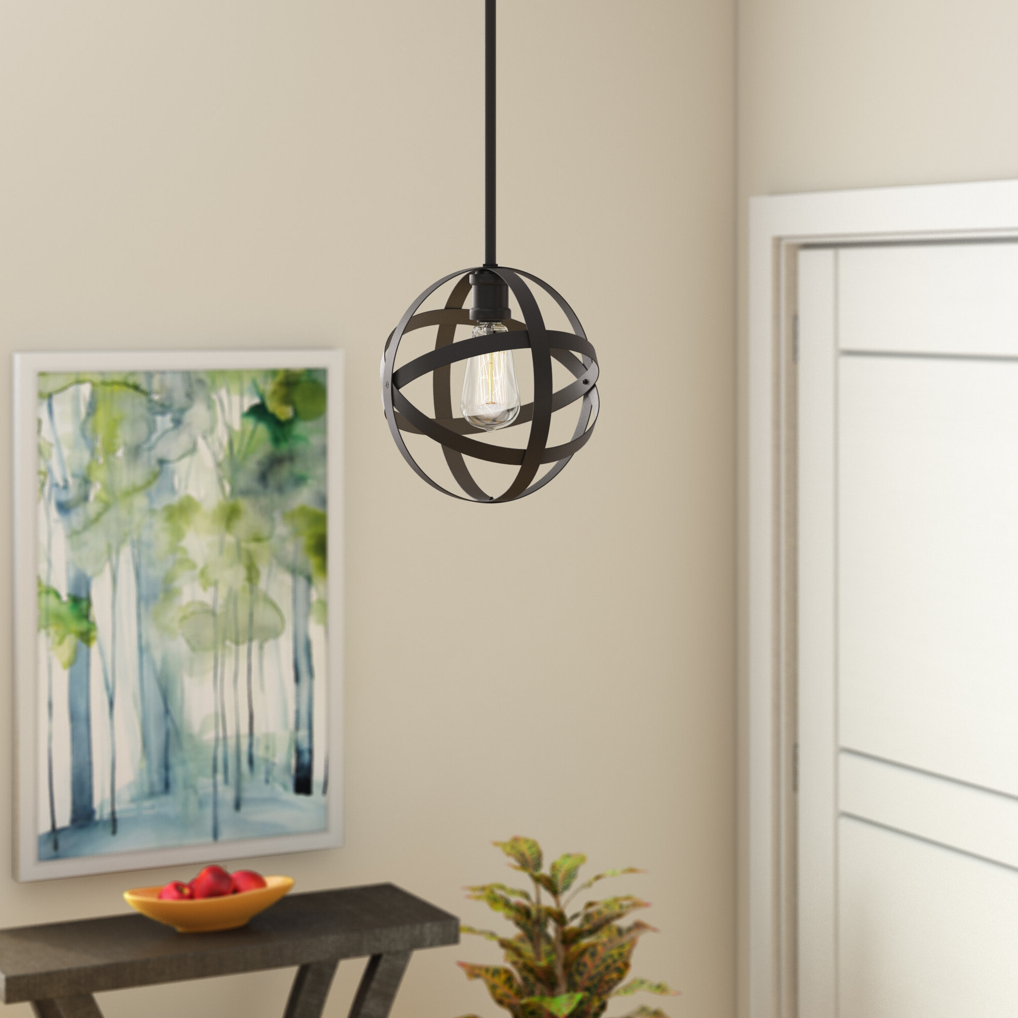 Most Up To Date Prange 1 Light Single Globe Pendant Pertaining To Alden 3 Light Single Globe Pendants (View 3 of 25)