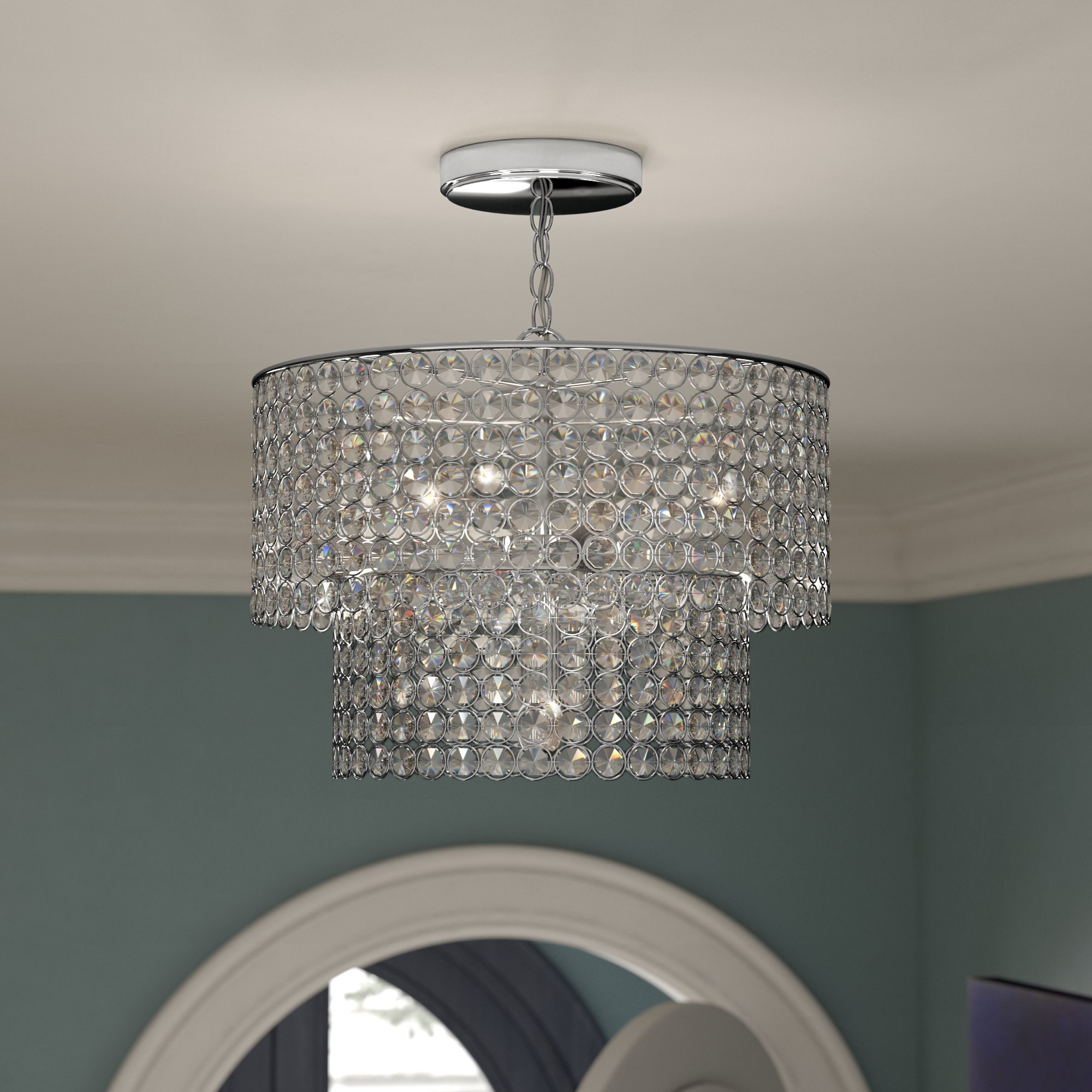 Most Up To Date Saltford 5 Light Crystal Chandelier In Von 4 Light Crystal Chandeliers (View 8 of 25)