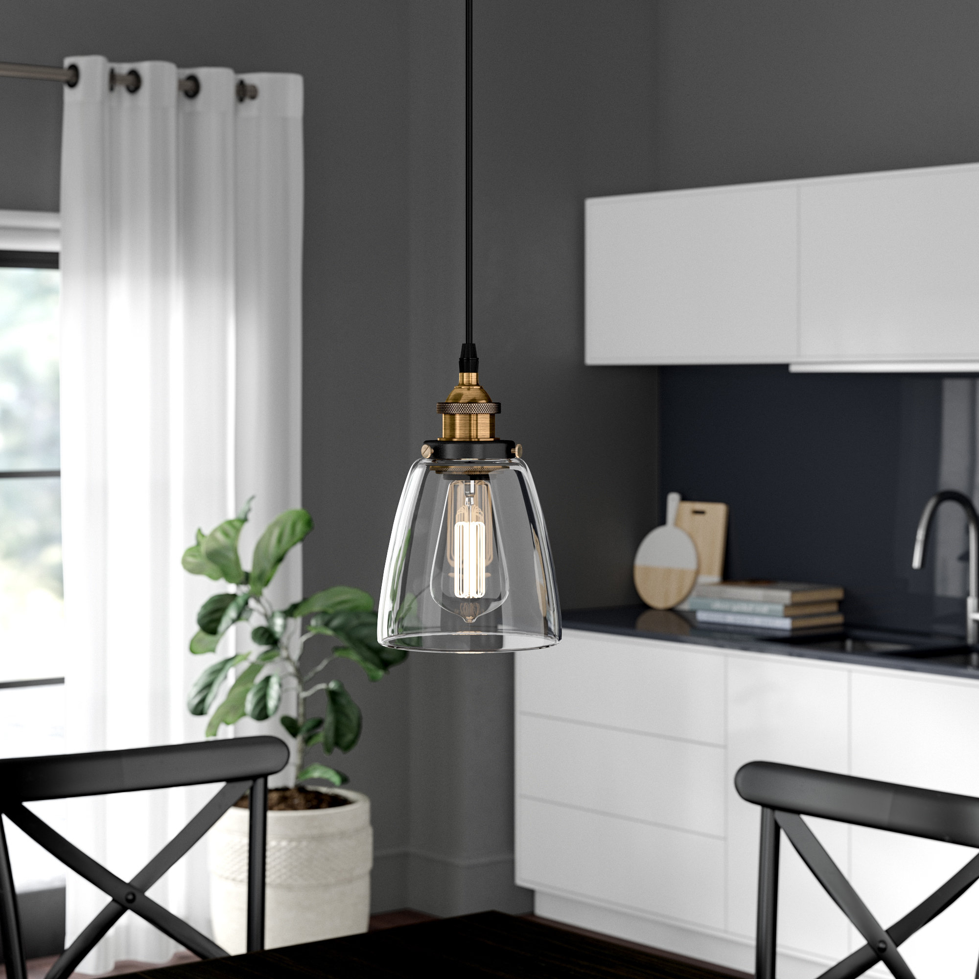 Most Up To Date Schutt 4 Light Kitchen Island Pendants Regarding Industrial Pendant Lights You'll Love In  (View 20 of 25)