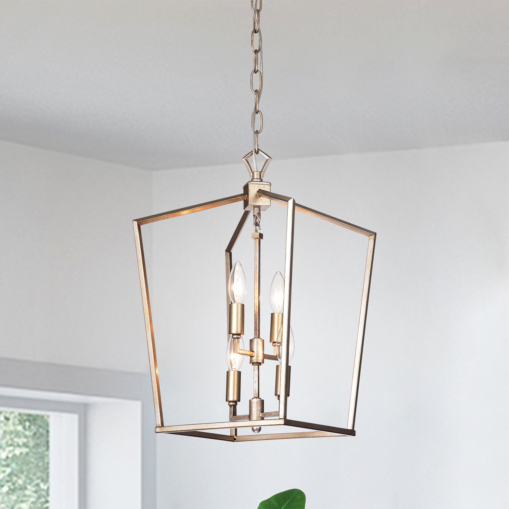 Most Up To Date Tiana 4 Light Geometric Chandeliers Intended For Massasoit Metal 4 Light Square Chandelier (View 8 of 25)