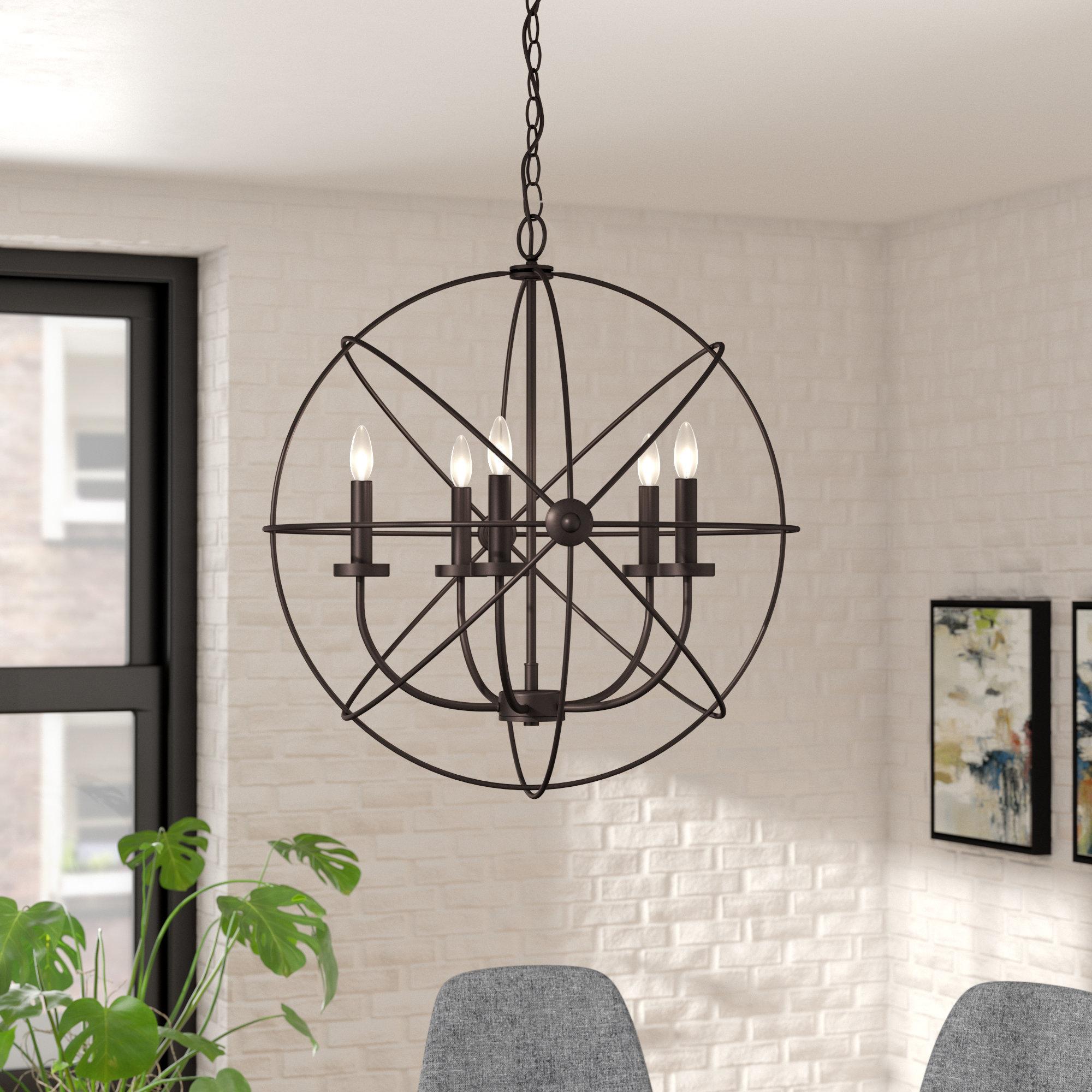 Most Up To Date Verlene Foyer 5 Light Globe Chandeliers In Waldron 5 Light Globe Chandelier (View 17 of 25)