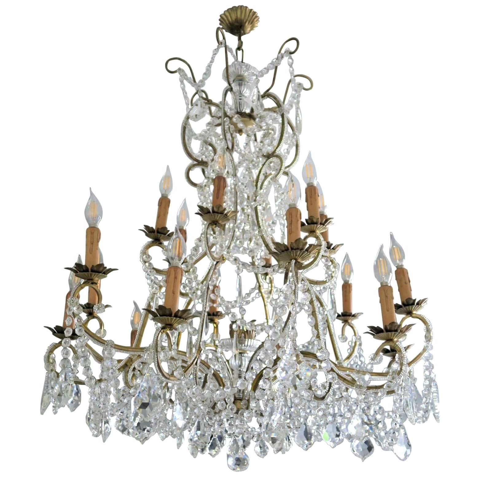Most Up To Date Von 4 Light Crystal Chandeliers Within Crystals For A Chandelier – Pearlchen (View 19 of 25)