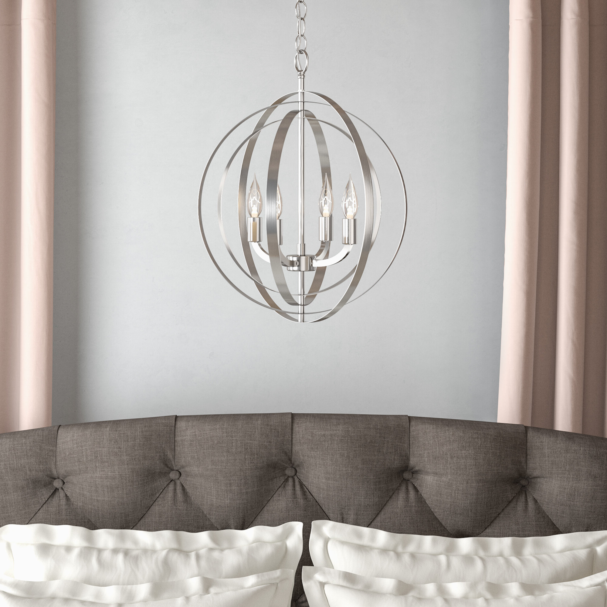 Most Up To Date Willa Arlo Interiors Hendry 4 Light Globe Chandelier Throughout Hendry 4 Light Globe Chandeliers (View 5 of 25)