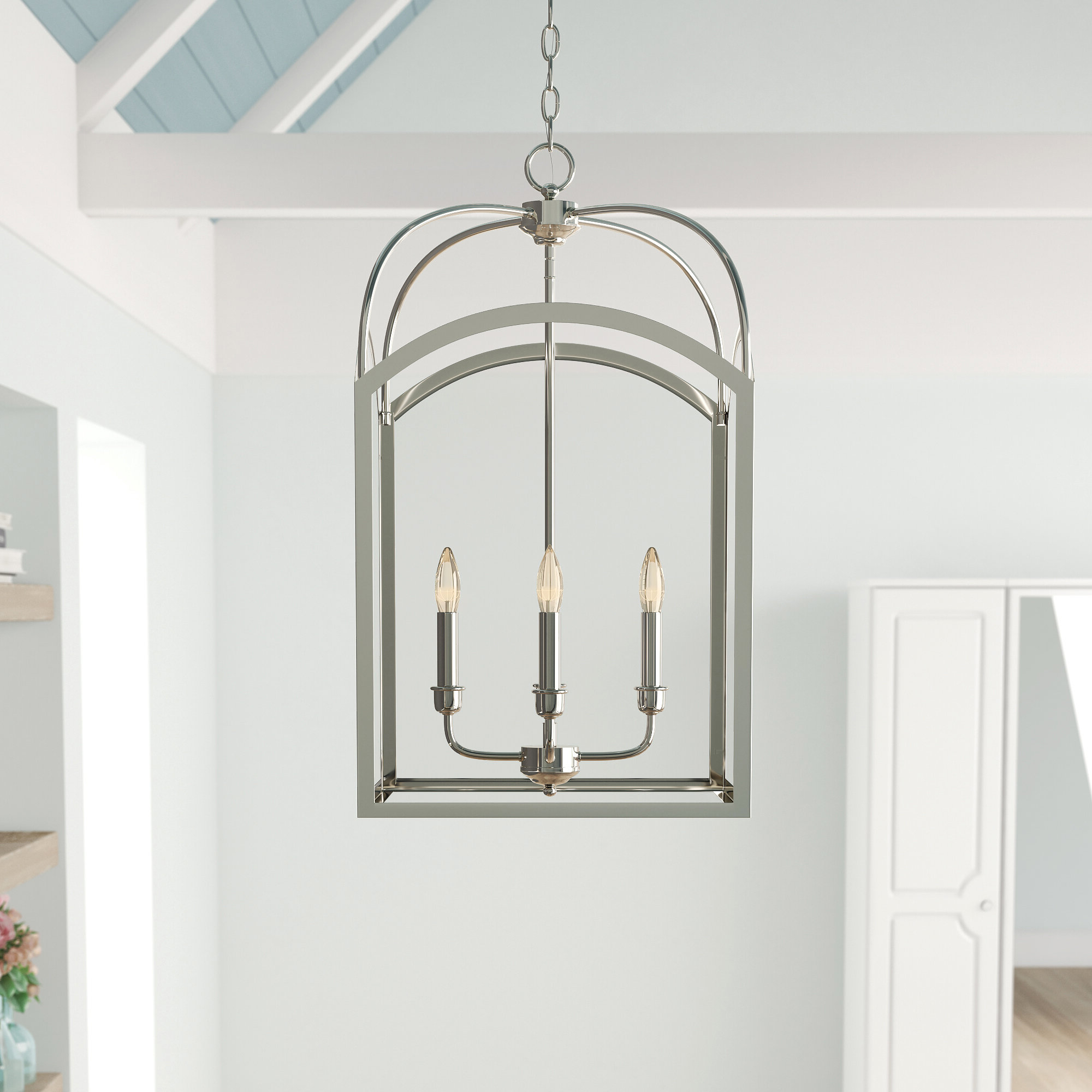 Mount Airy 4 Light Lantern Geometric Pendant With Most Recent Kierra 4 Light Unique / Statement Chandeliers (View 16 of 25)