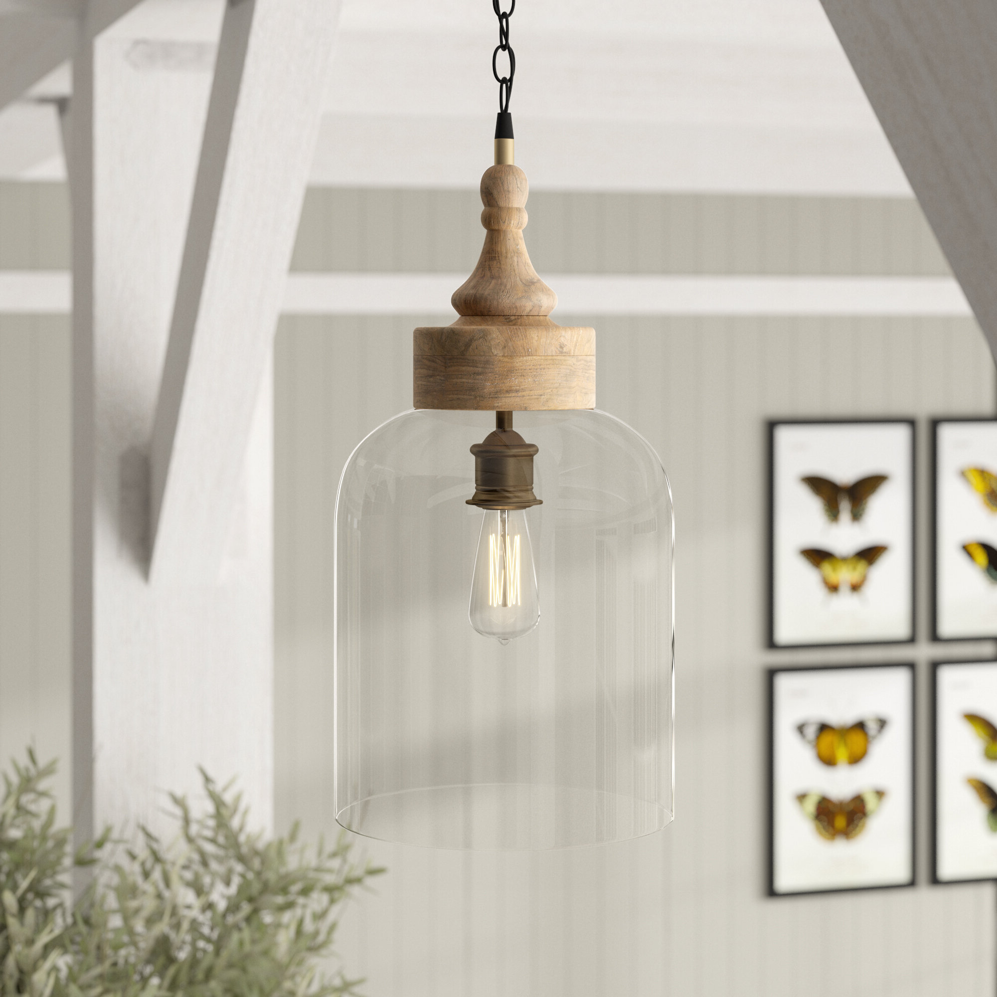 Moyer 1 Light Single Cylinder Pendants Intended For Best And Newest Olivo 1 Light Bell Pendant (View 16 of 25)