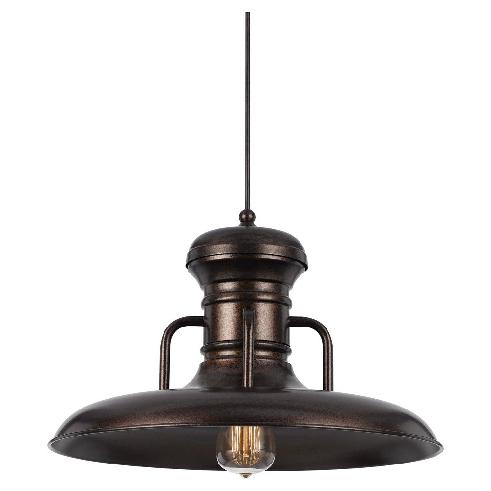 Mueller 1 Light Single Dome Pendants With Fashionable Cal Lighting Winterset Rust (Red) Finish Metal Pendant (View 19 of 25)