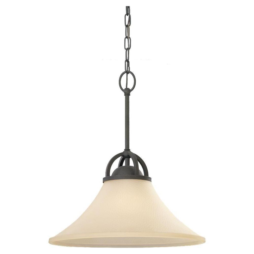 Nadeau 1 Light Single Cone Pendants Within Most Current Sea Gull Lighting Somerton 1 Light Blacksmith Pendant (View 16 of 25)