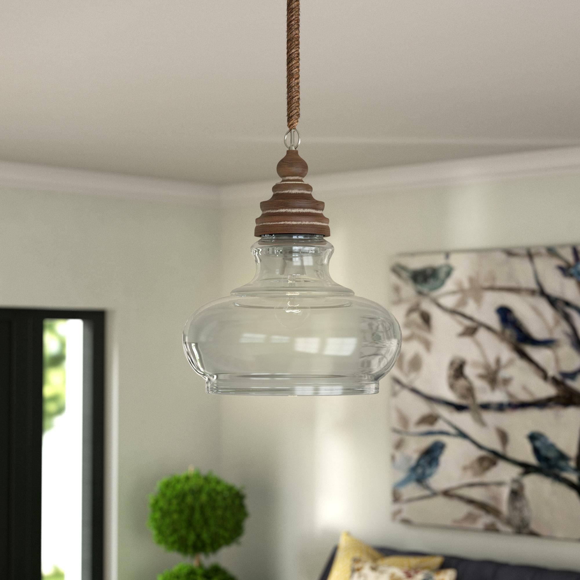 Nadine 1-Light Single Schoolhouse Pendants within Most Popular Maelle 1-Light Single Bell Pendant