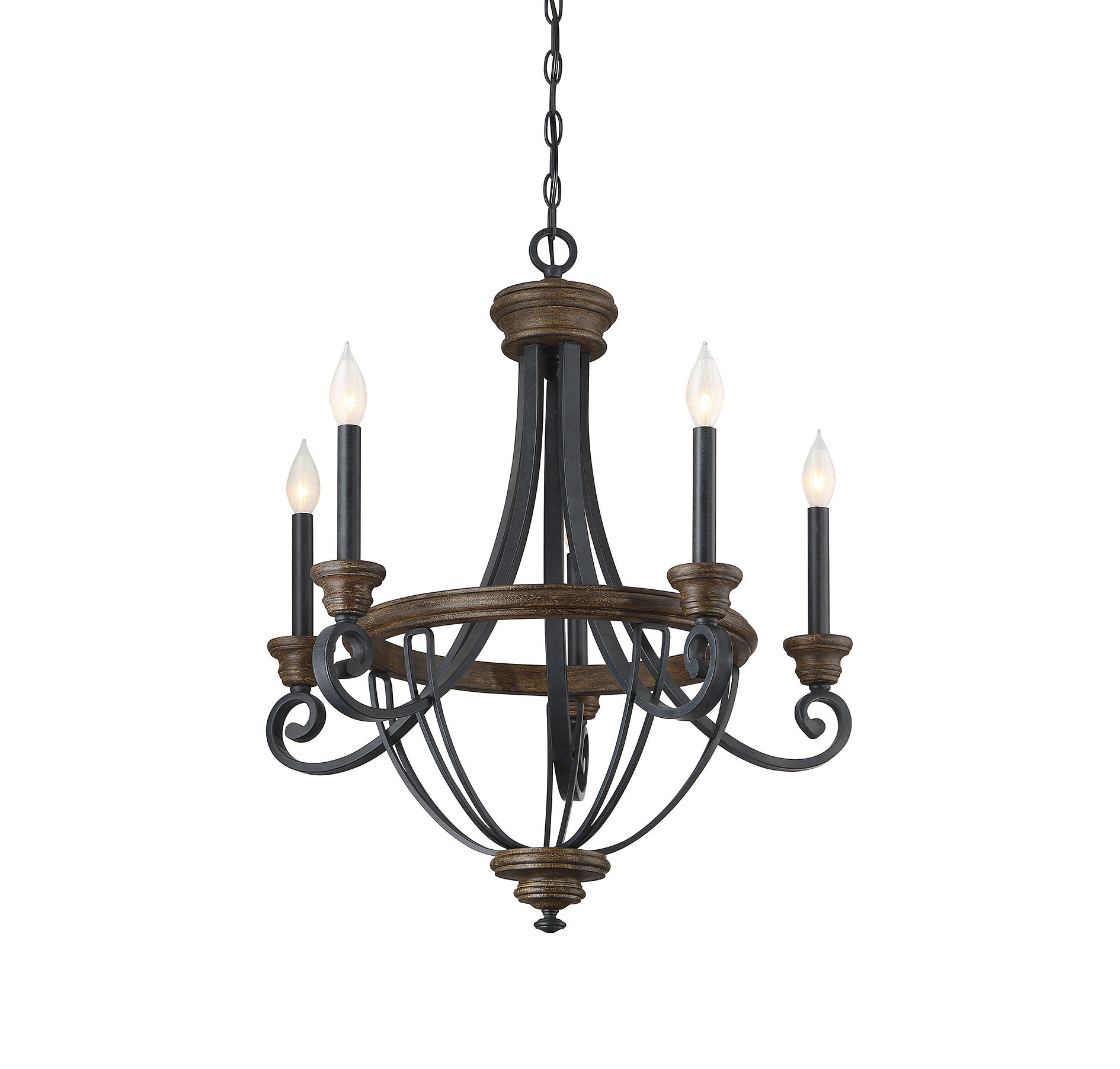 Nanteuil 5-Light Empire Chandelier within 2020 Kenna 5-Light Empire Chandeliers