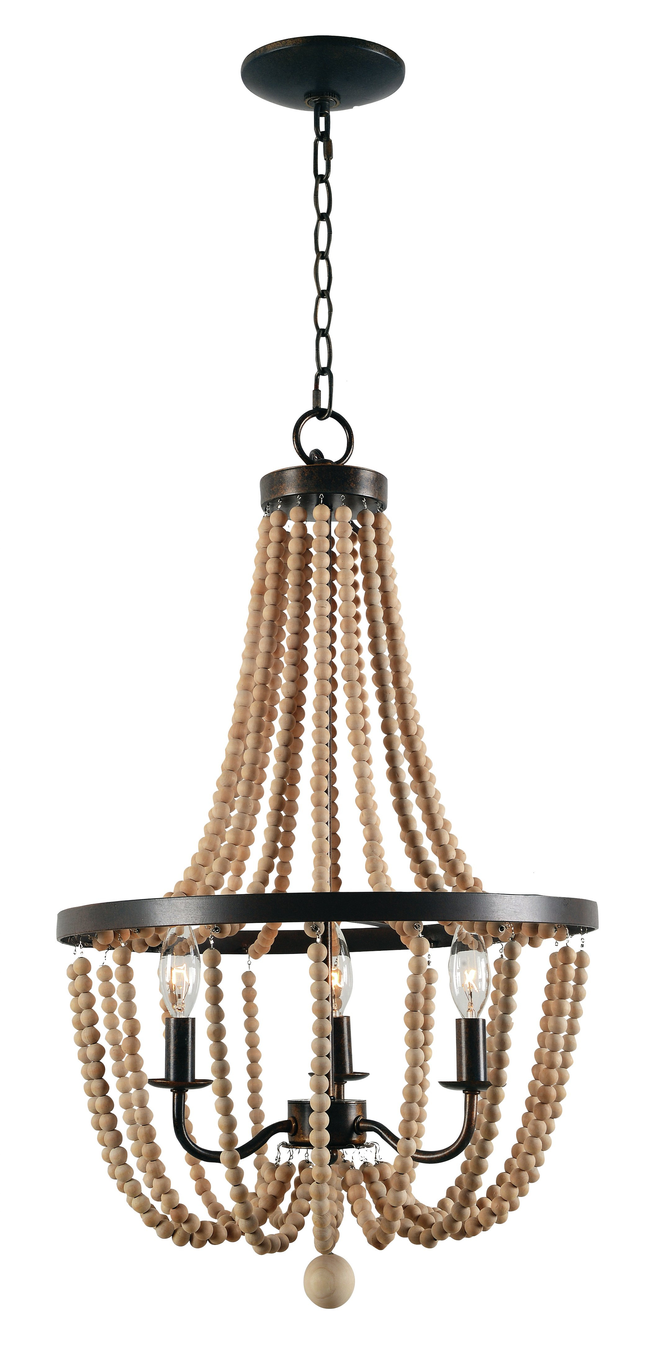 Nehemiah 3-Light Empire Chandelier with Widely used Nehemiah 3-Light Empire Chandeliers