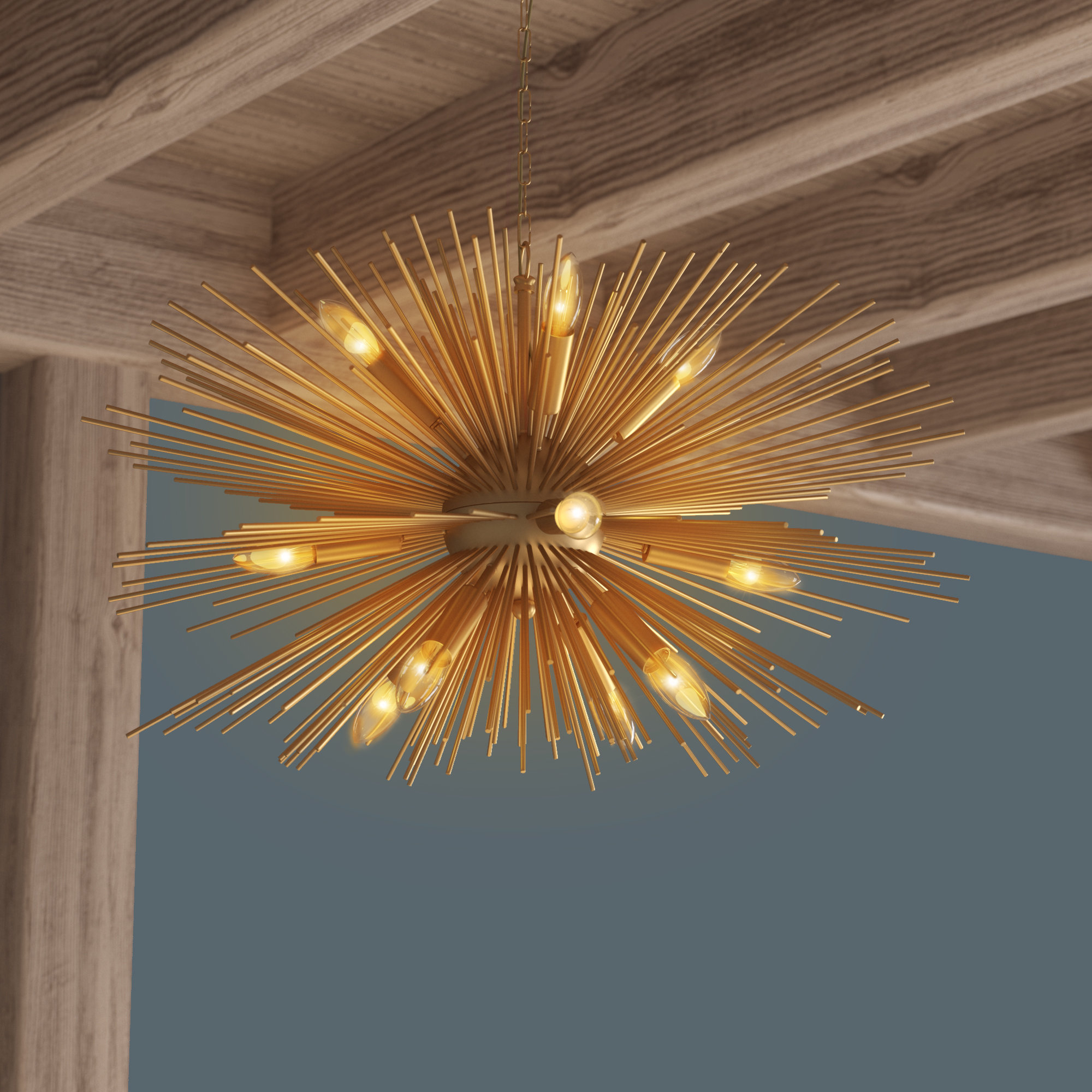 Nelly 12-Light Sputnik Chandelier with Well known Nelly 12-Light Sputnik Chandeliers