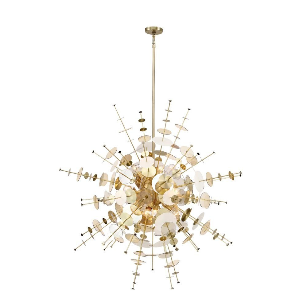 Nelly 12 Light Sputnik Chandeliers Inside Trendy Eurofase Bonazzi 12 Light Brass Chandelier 34084  (View 15 of 25)