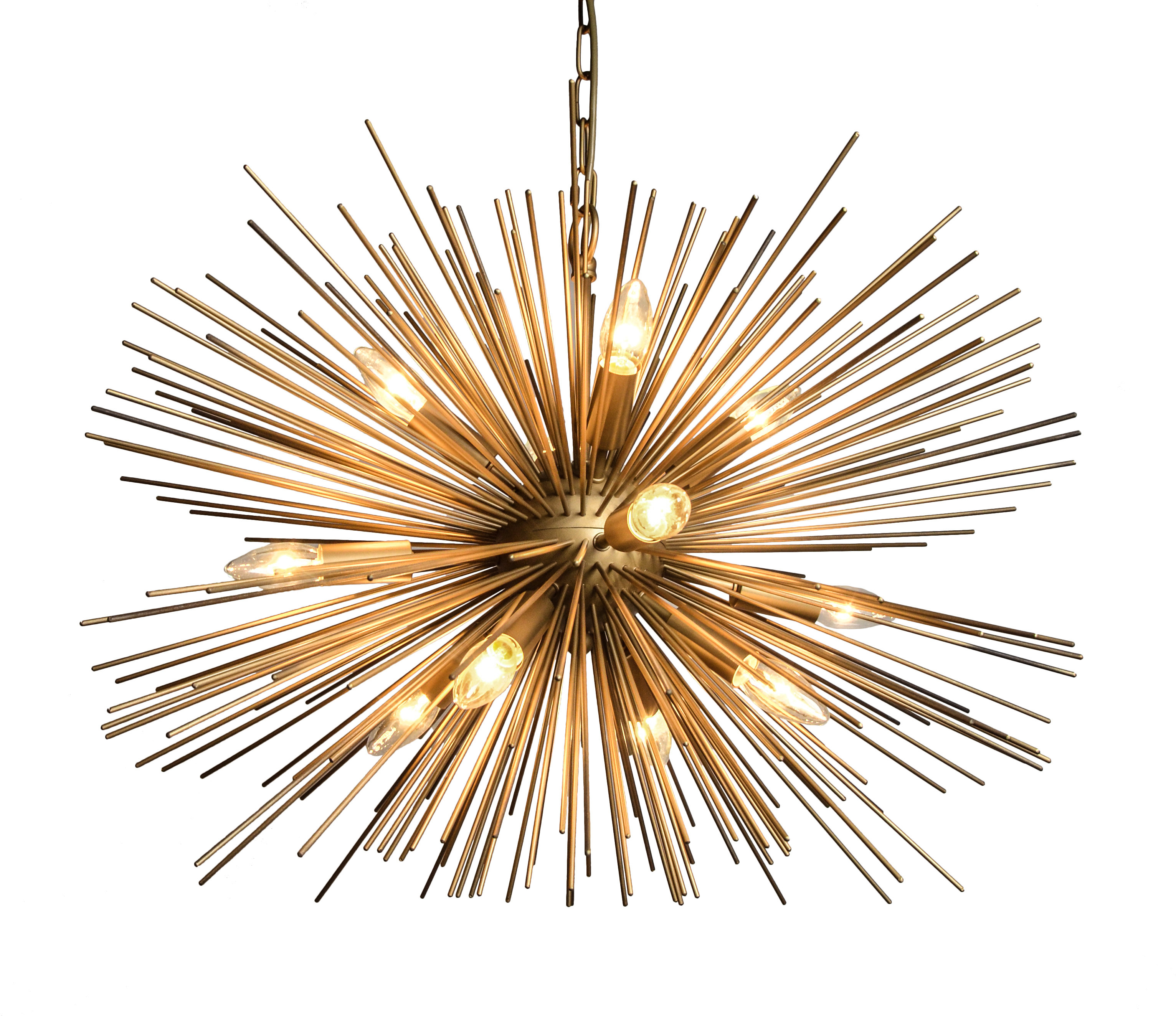 Nelly 12-Light Sputnik Chandeliers with Popular Nelly 12-Light Sputnik Chandelier