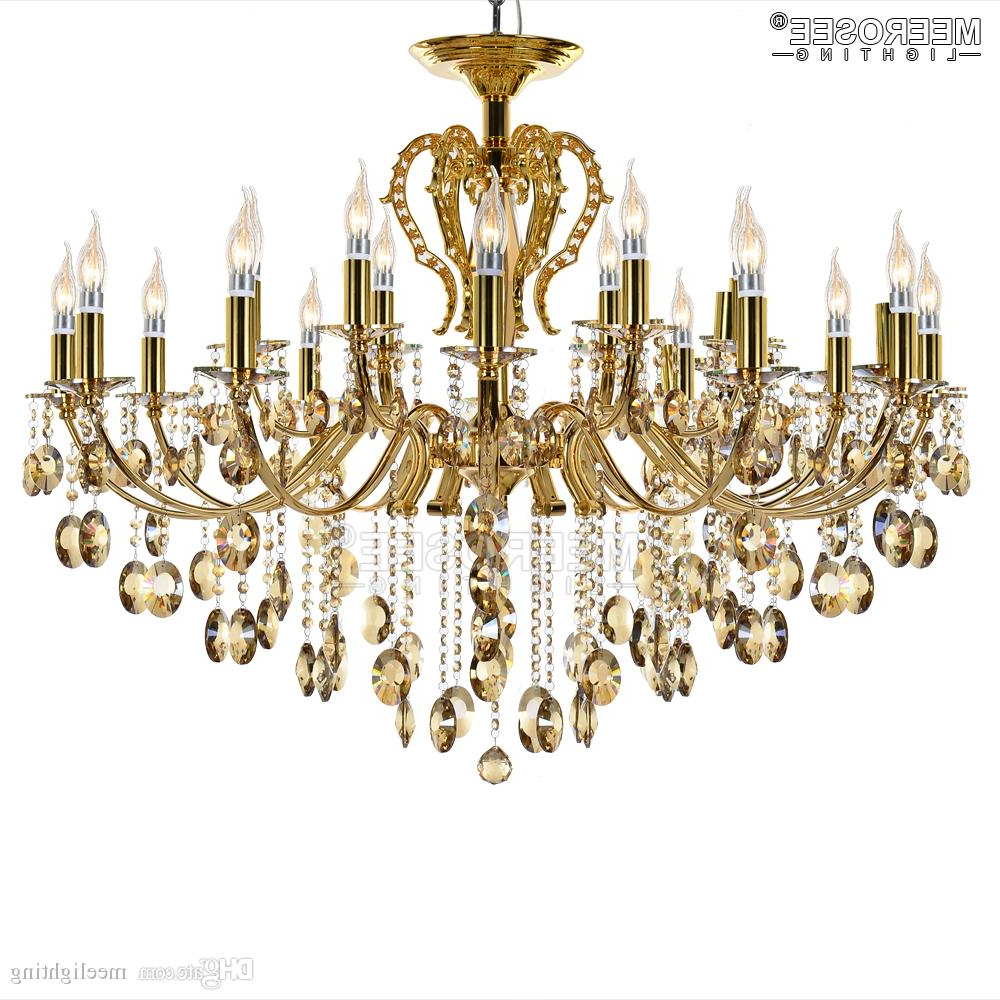 New Arrival Wrought Iron Chandelier Crystal Light Fixture Hanglamp Lustre  De Sala Crystal Suspension Lighting For Foyer Villa For Fashionable Lindsey 4 Light Drum Chandeliers (View 21 of 25)