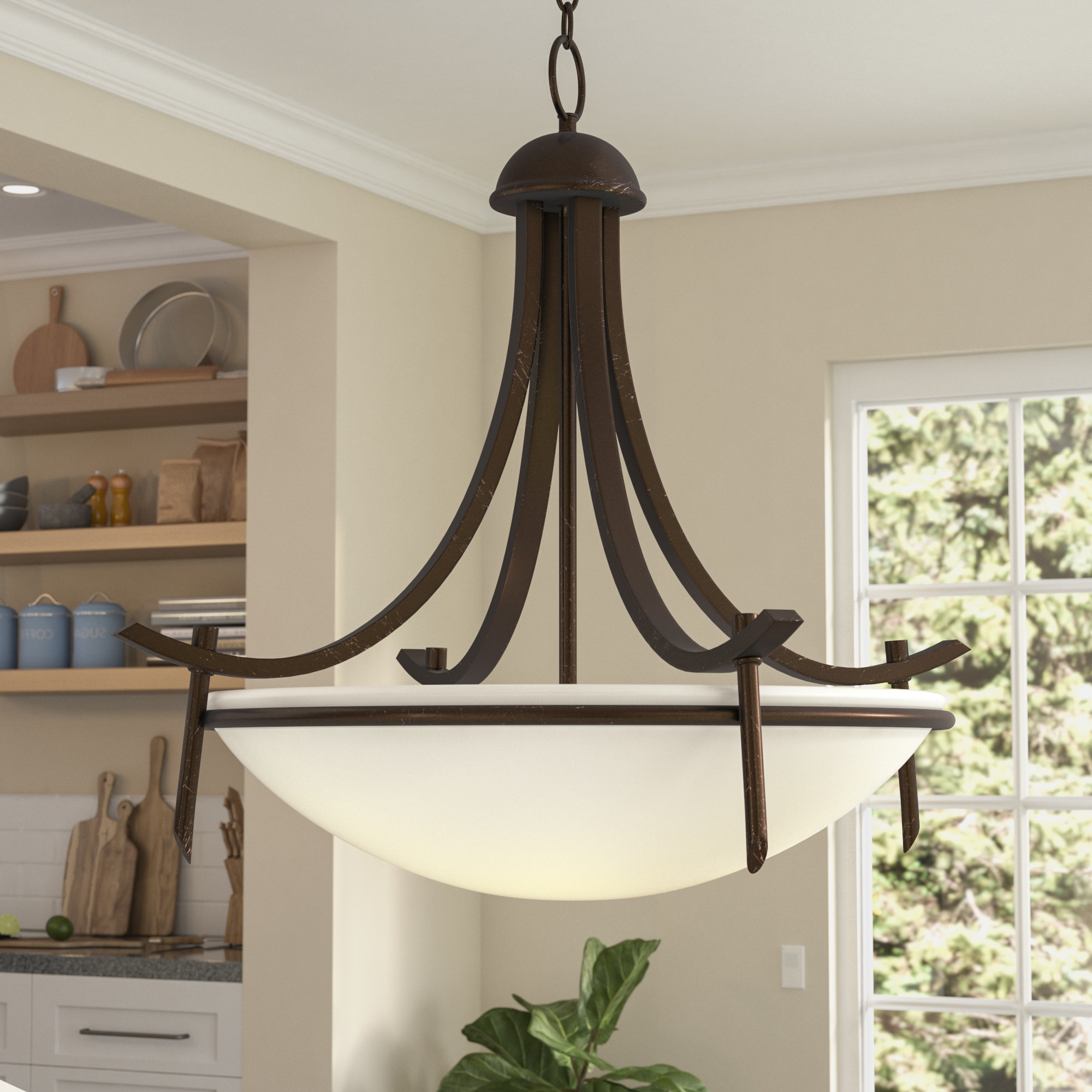Featured Photo of Newent 3 Light Single Bowl Pendants