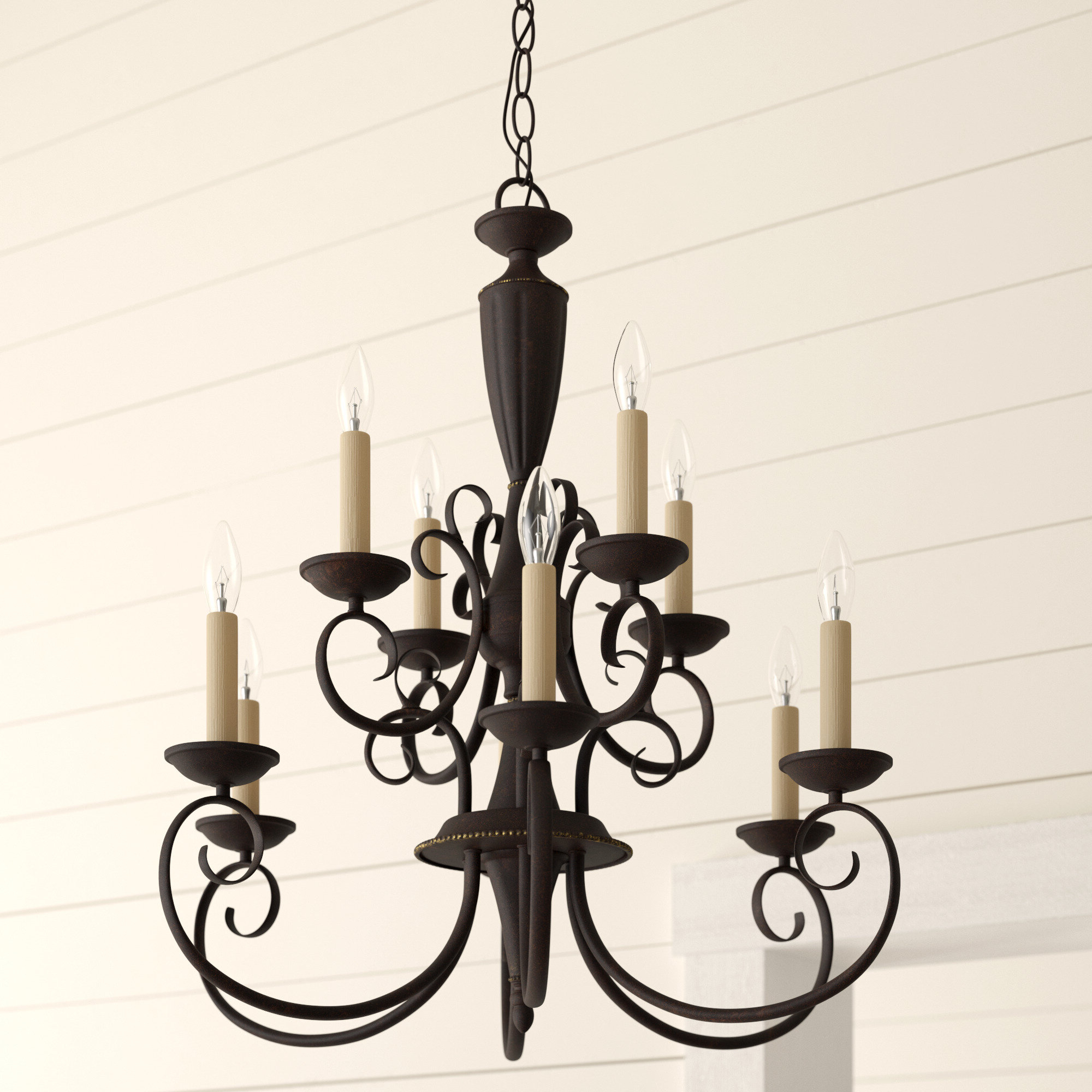 Newent 3-Light Single Bowl Pendants pertaining to Recent Farmhouse & Rustic Charlton Home Chandeliers