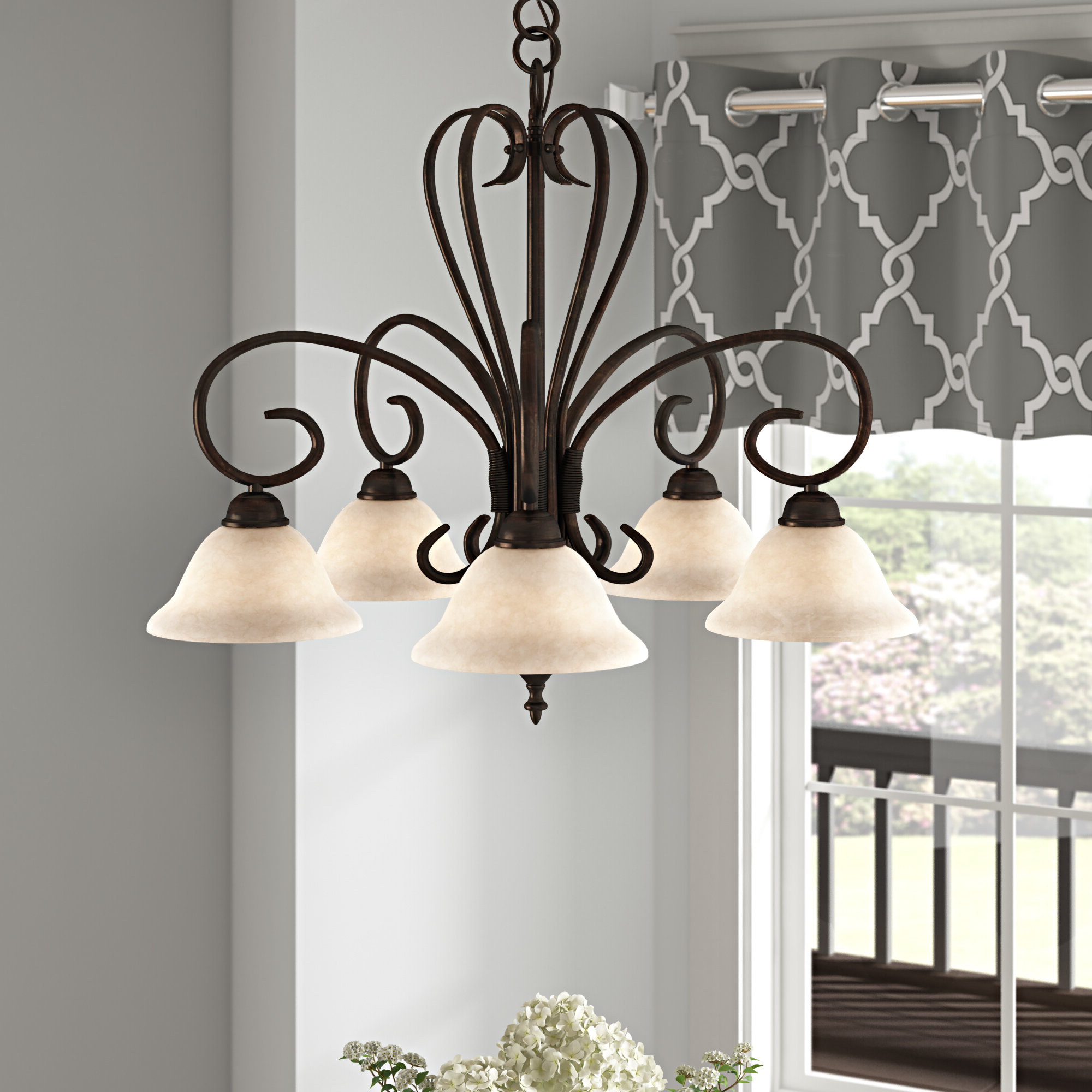 Newent 5 Light Shaded Chandeliers With Best And Newest Gaines 5 Light Shaded Chandelier (View 17 of 25)