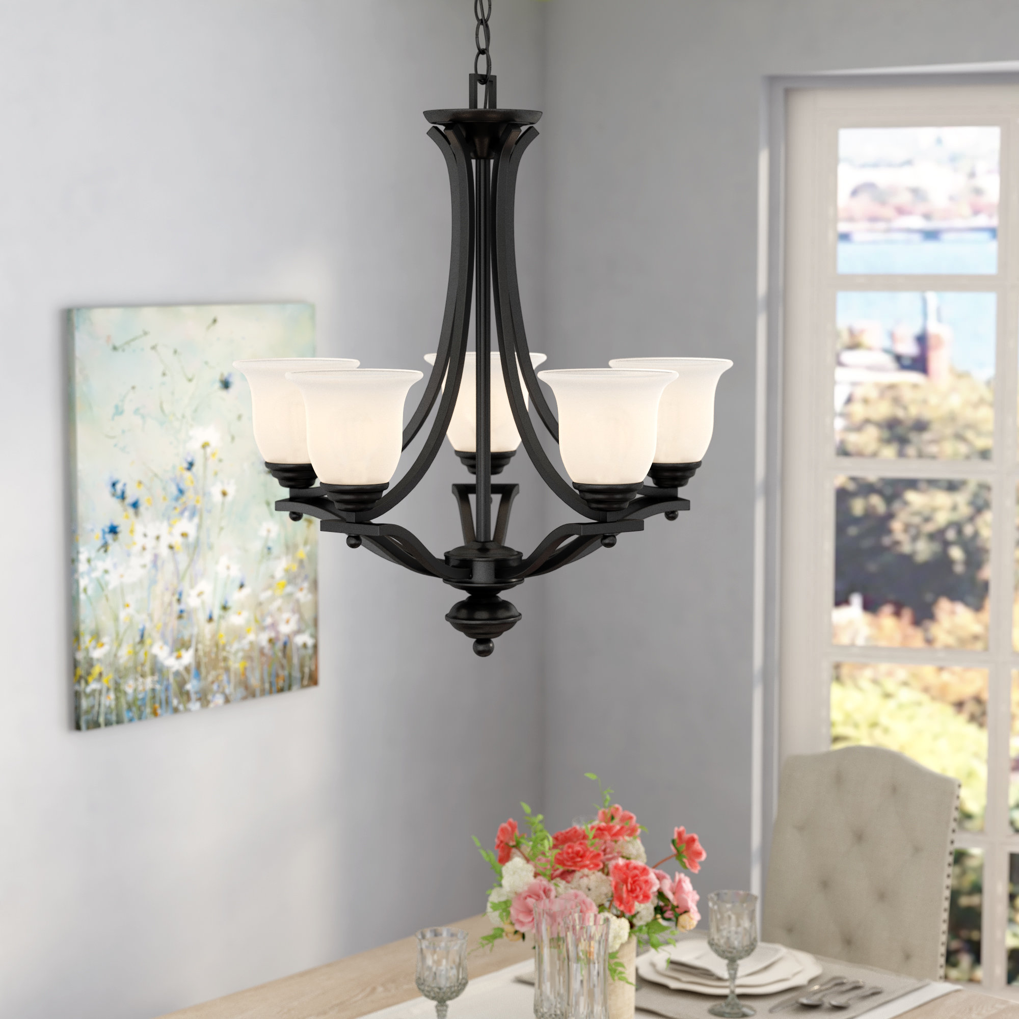 Newent 5-Light Shaded Chandeliers with regard to Newest Weyer 5-Light Shaded Chandelier