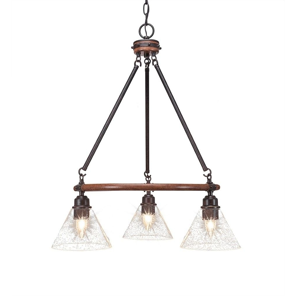 """Newest 3-Light Chandelier With 7"""" Clear Bubble Glass In 2019 with Pickensville 6-Light Wagon Wheel Chandeliers"""