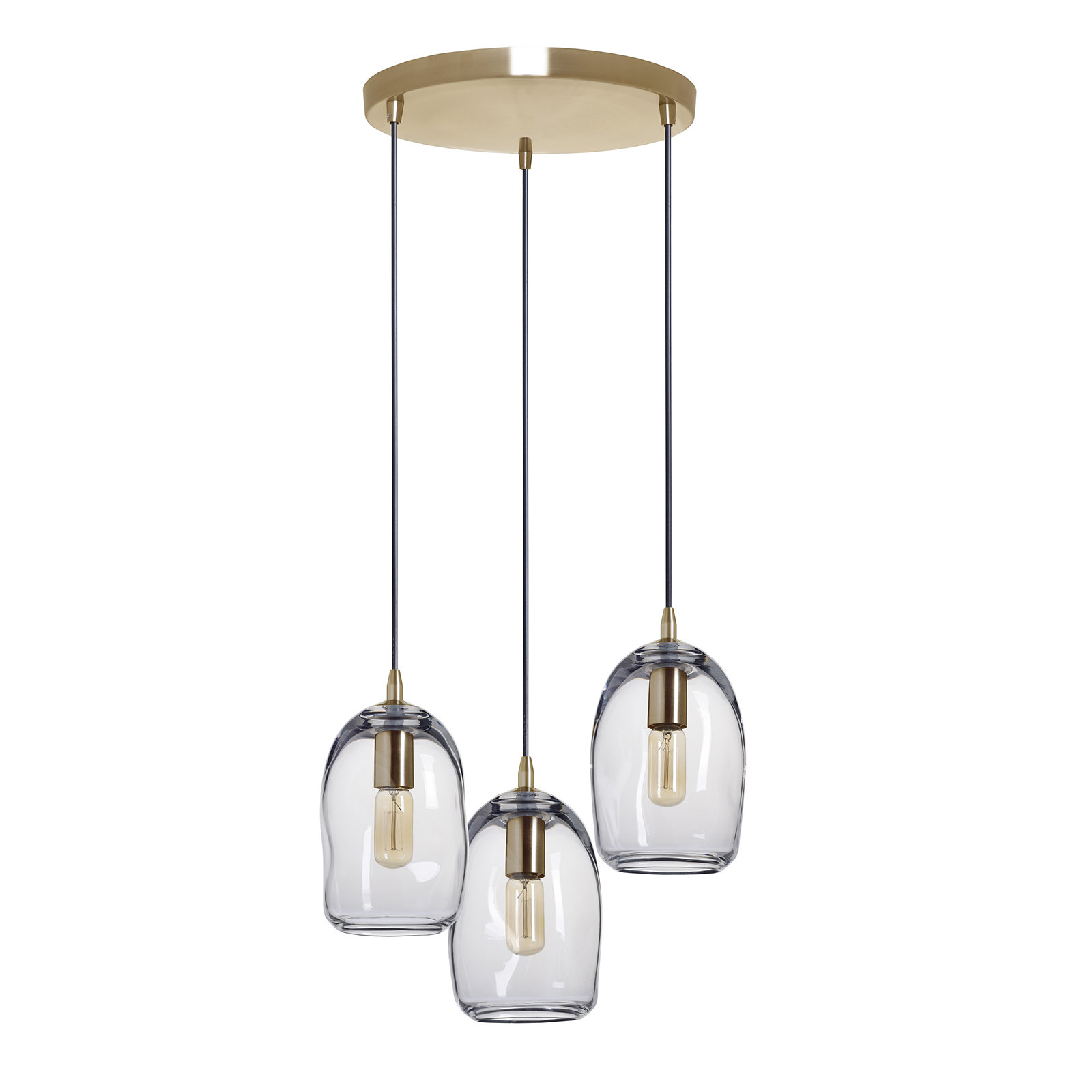 Newest 3 Light Cluster Bell Pendant Throughout Vernice 3 Light Cluster Bell Pendants (View 5 of 25)