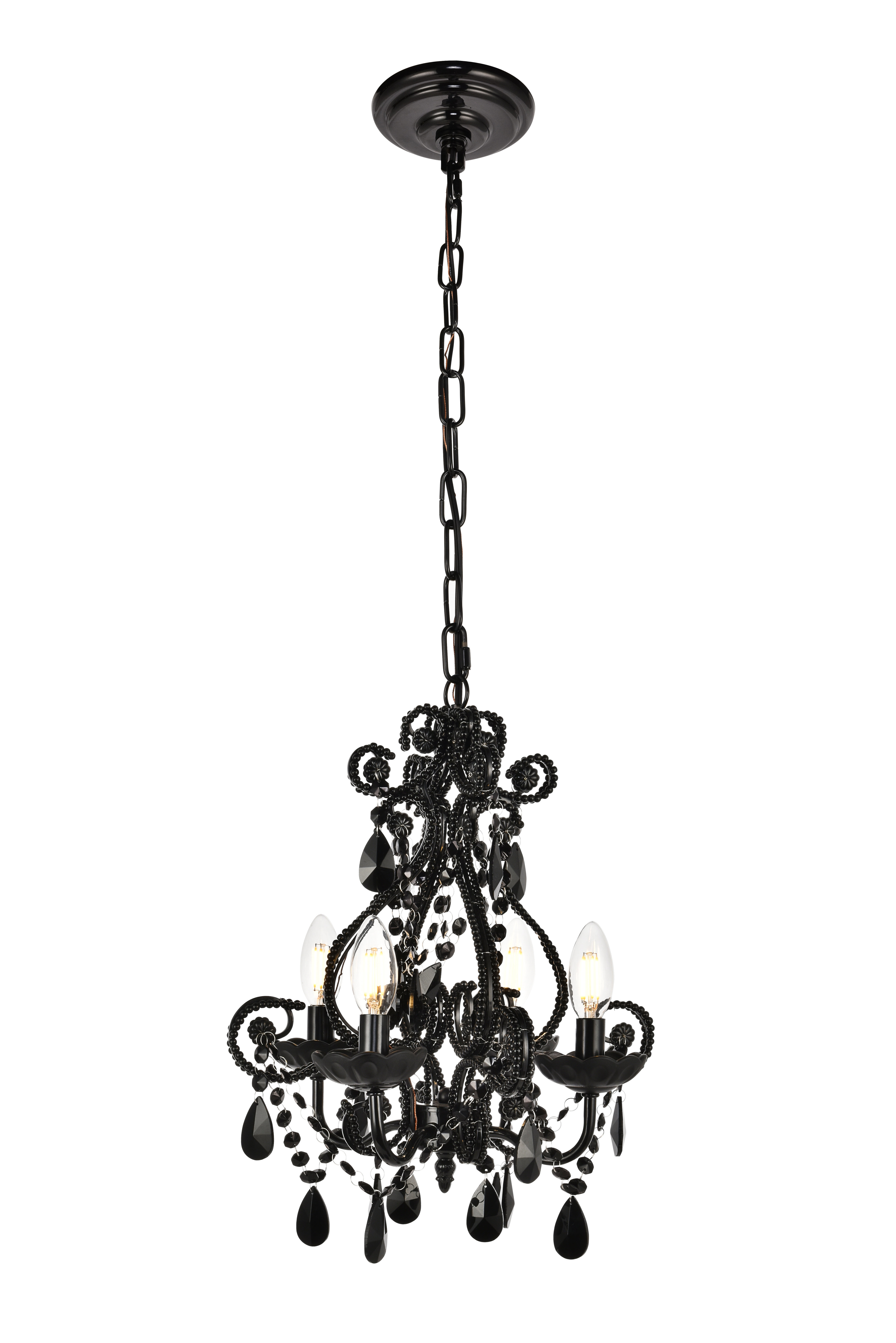 Newest Aldora 4-Light Candle Style Chandeliers inside Burcott 4-Light Candle Style Chandelier