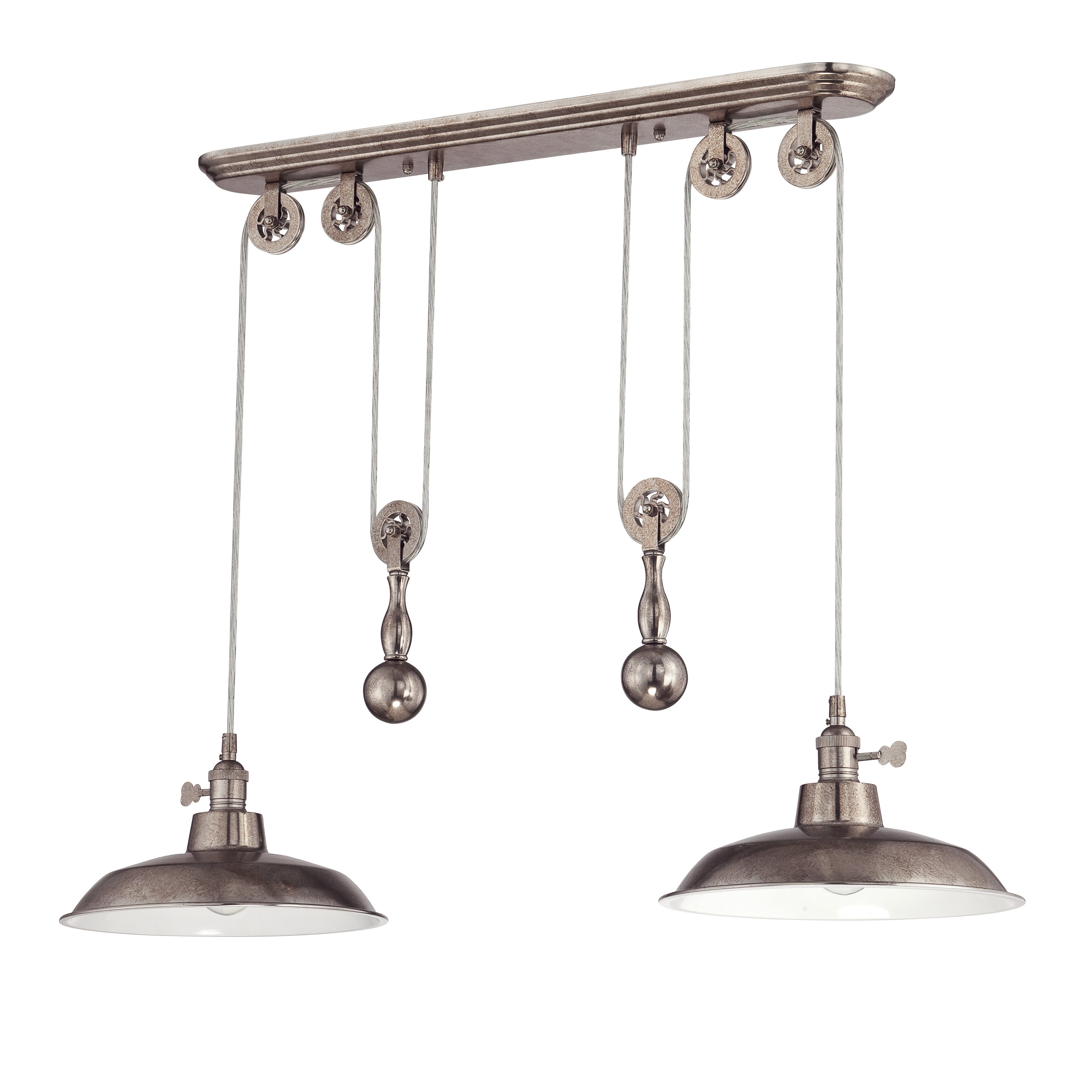 Newest Ariel 2 Light Kitchen Island Dome Pendant With Regard To Ariel 3 Light Kitchen Island Dome Pendants (View 21 of 25)