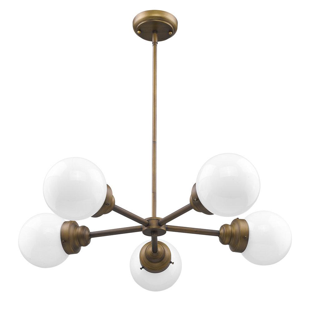 Newest Bautista 5-Light Sputnik Chandeliers intended for Rabehi 5-Light Sputnik Chandelier