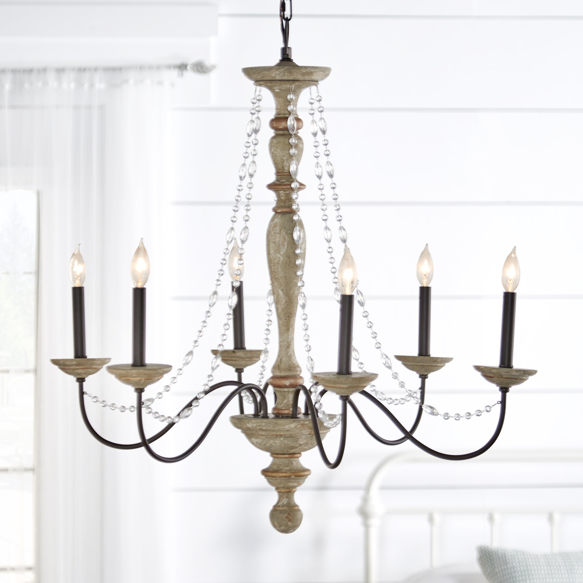 Newest Bouchette Traditional 6-Light Candle Style Chandeliers inside Three Posts Brennon 6-Light Candle Style Chandelier