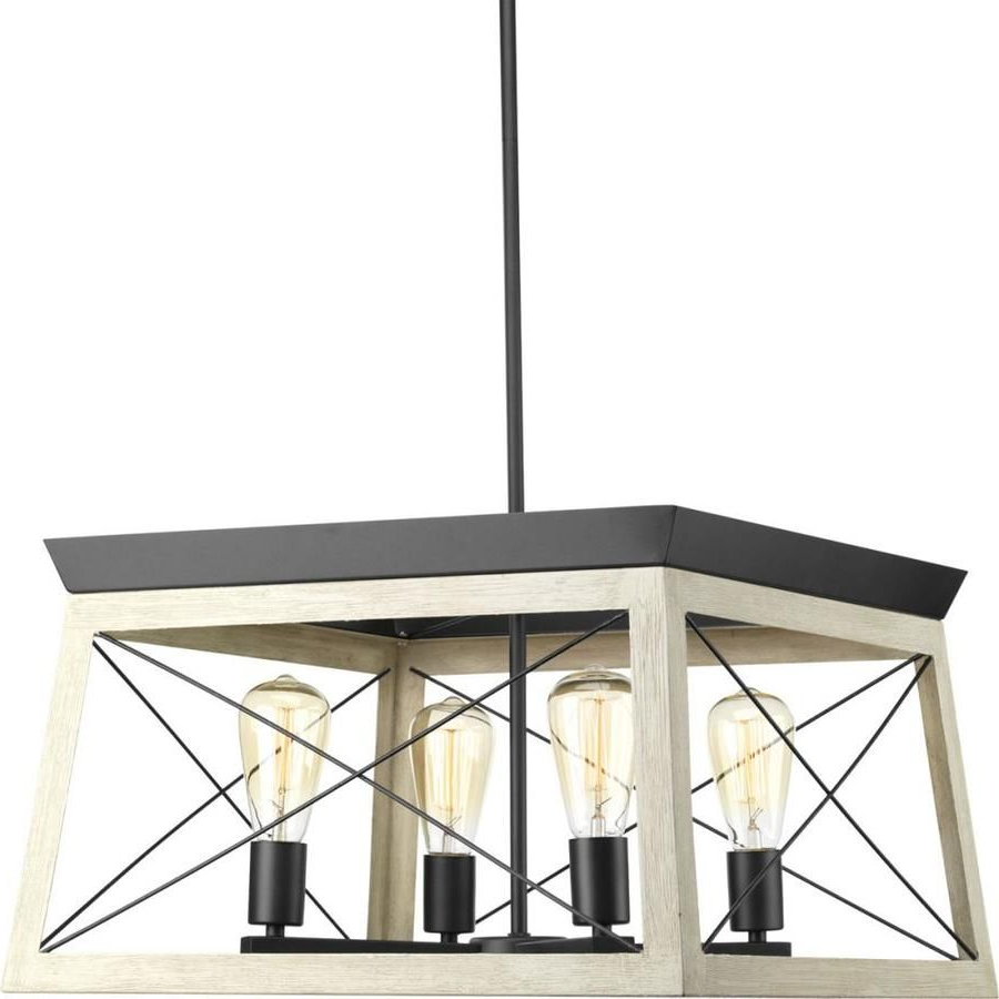 Newest Briarwood 4 Light Graphite Farmhouse Cage Chandelier In Delon 4 Light Square Chandeliers (View 15 of 25)