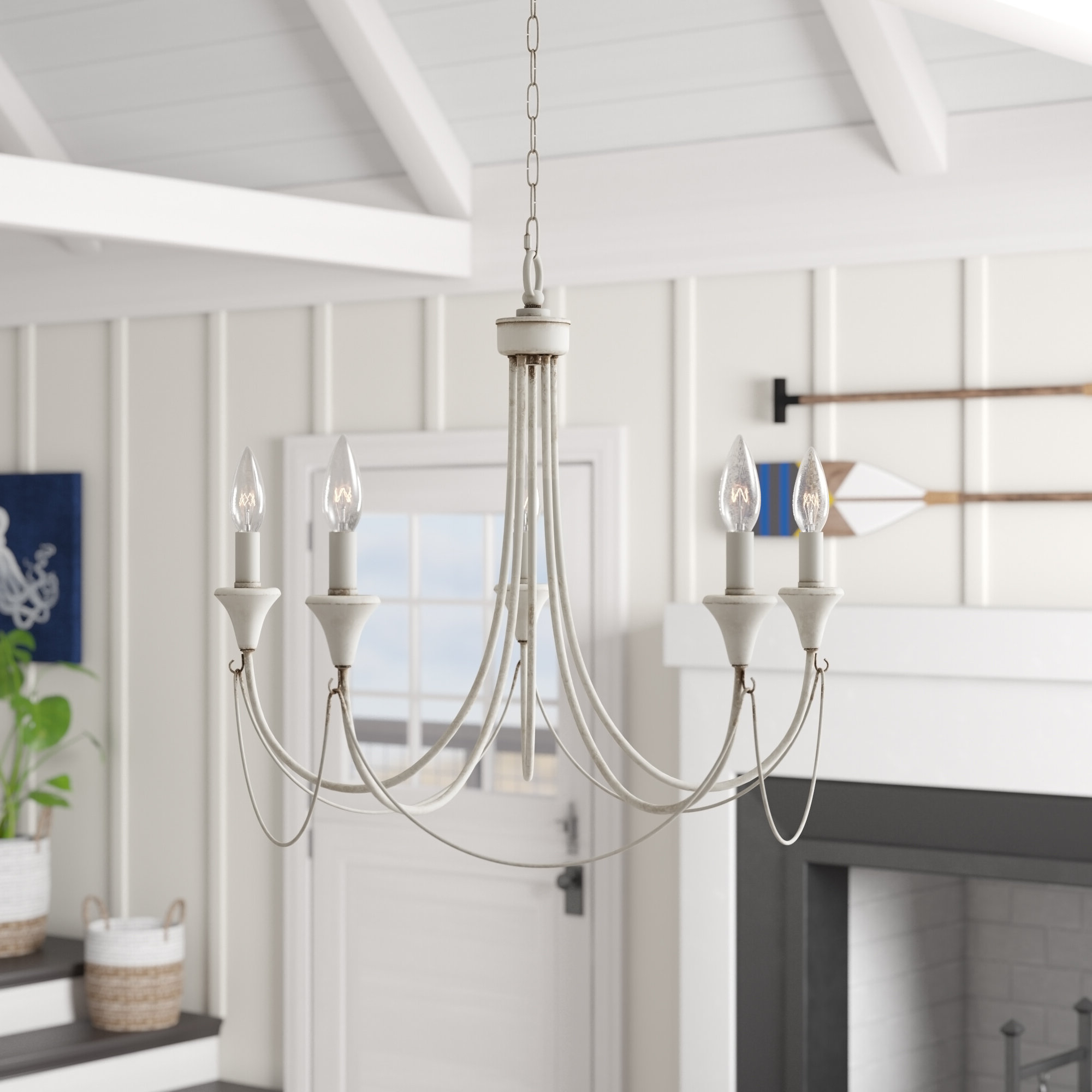 Newest Corneau 5-Light Chandeliers in Breakwater Bay Walczak 5-Light Chandelier